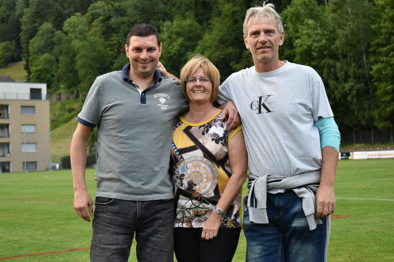Der aktuelle Vorstand der Freunde FCA (v.l.): Remo Arnold, Silvia Eller und Stefan Arnold. Es fehlt: René Senn Foto: Ronny Arnold
