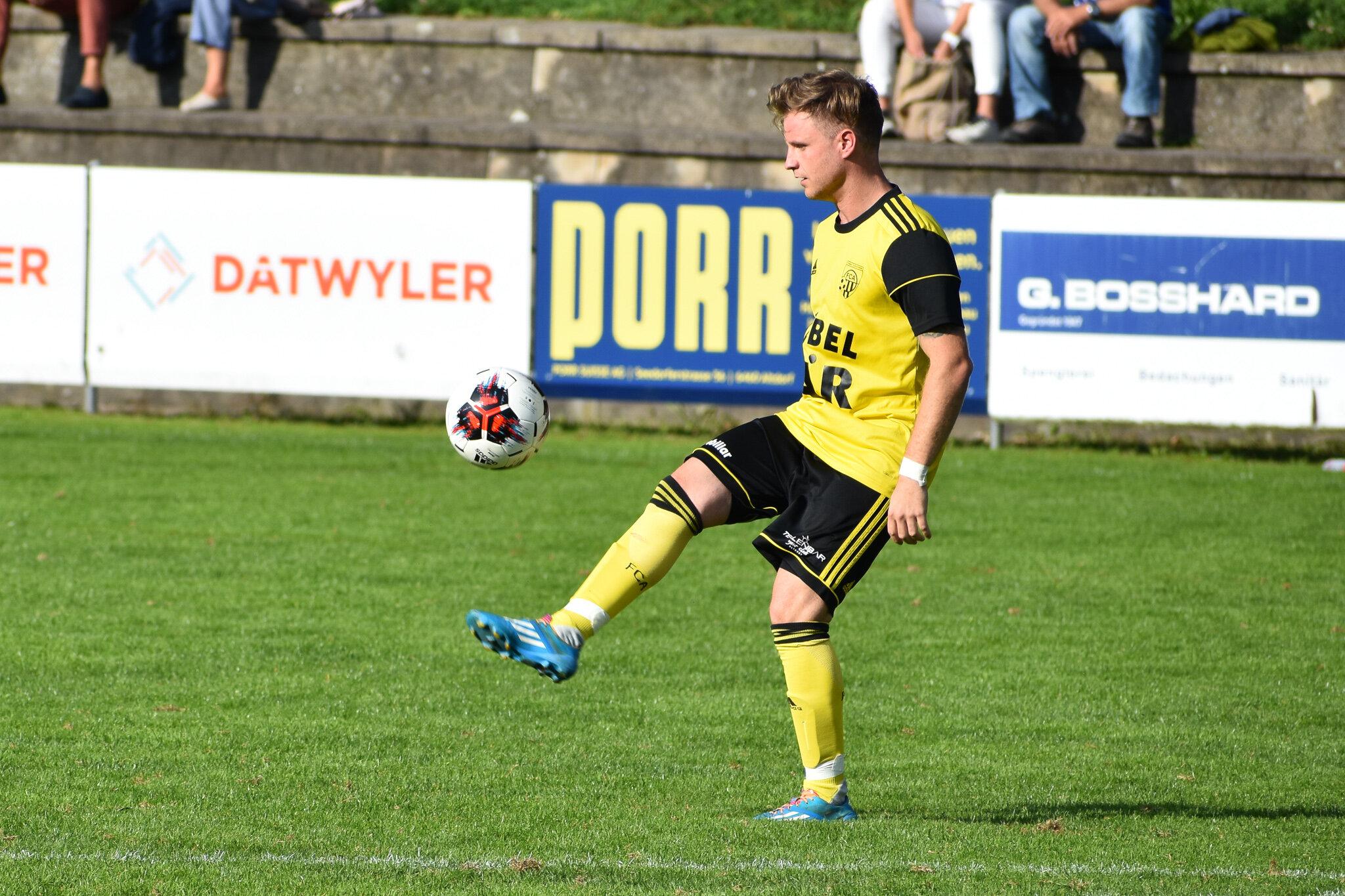 Altdorfs Abwehrchef Gnos zeigt mit seiner Defensive zuletzt konstant gute Leistungen. Foto: FC Altdorf
