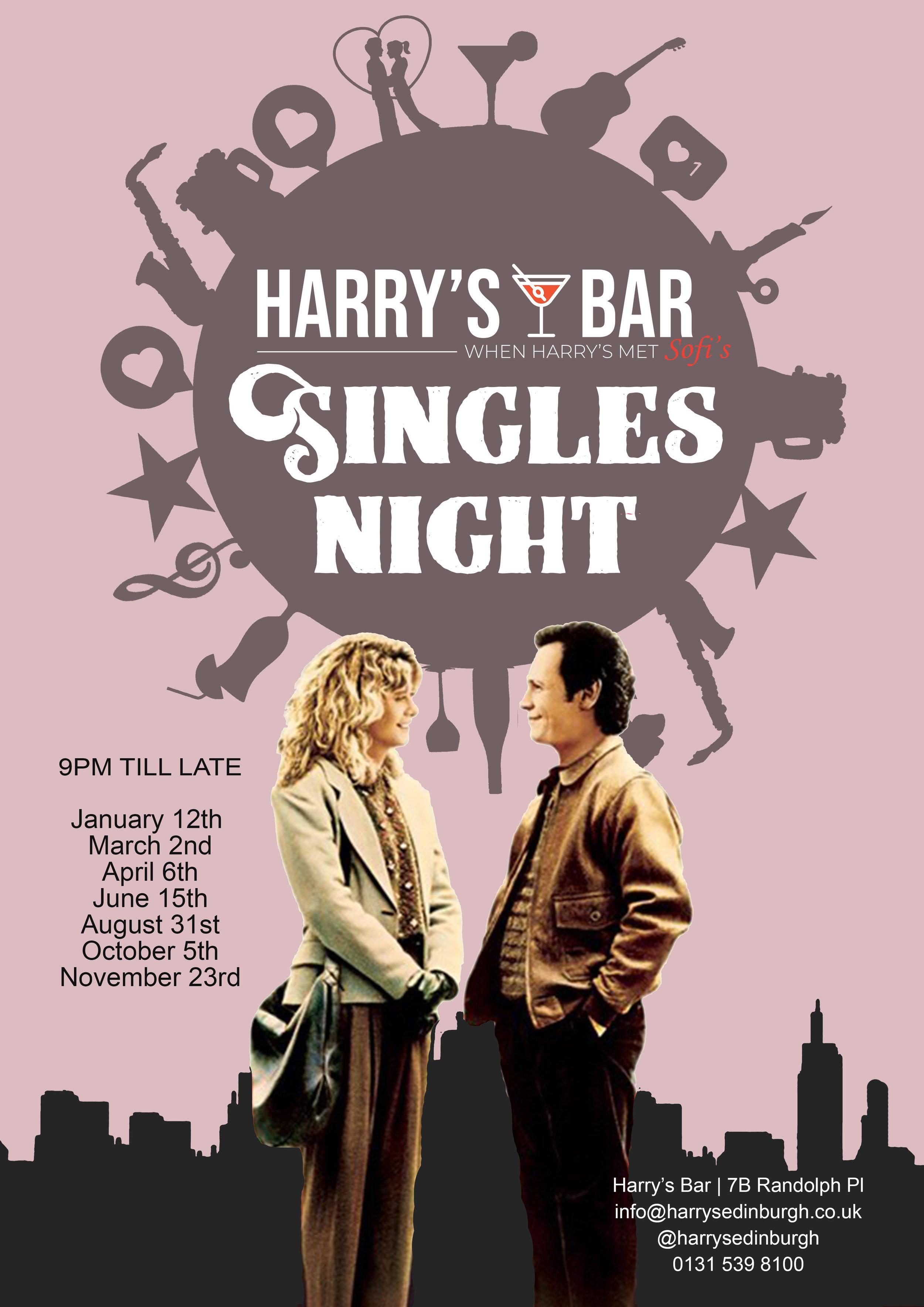 Harrys Singles night