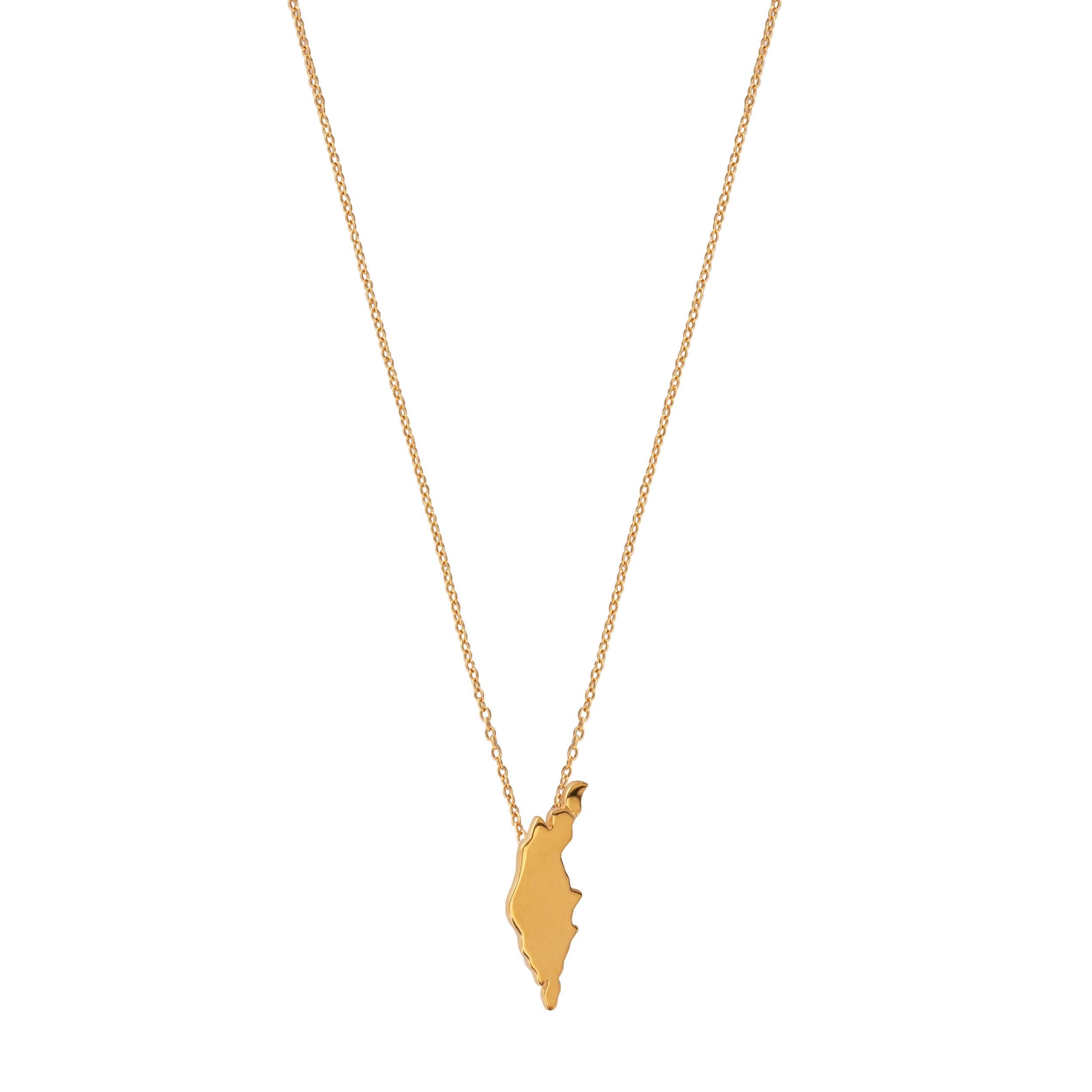 ''ÖJN'' NECKLACE GOLD