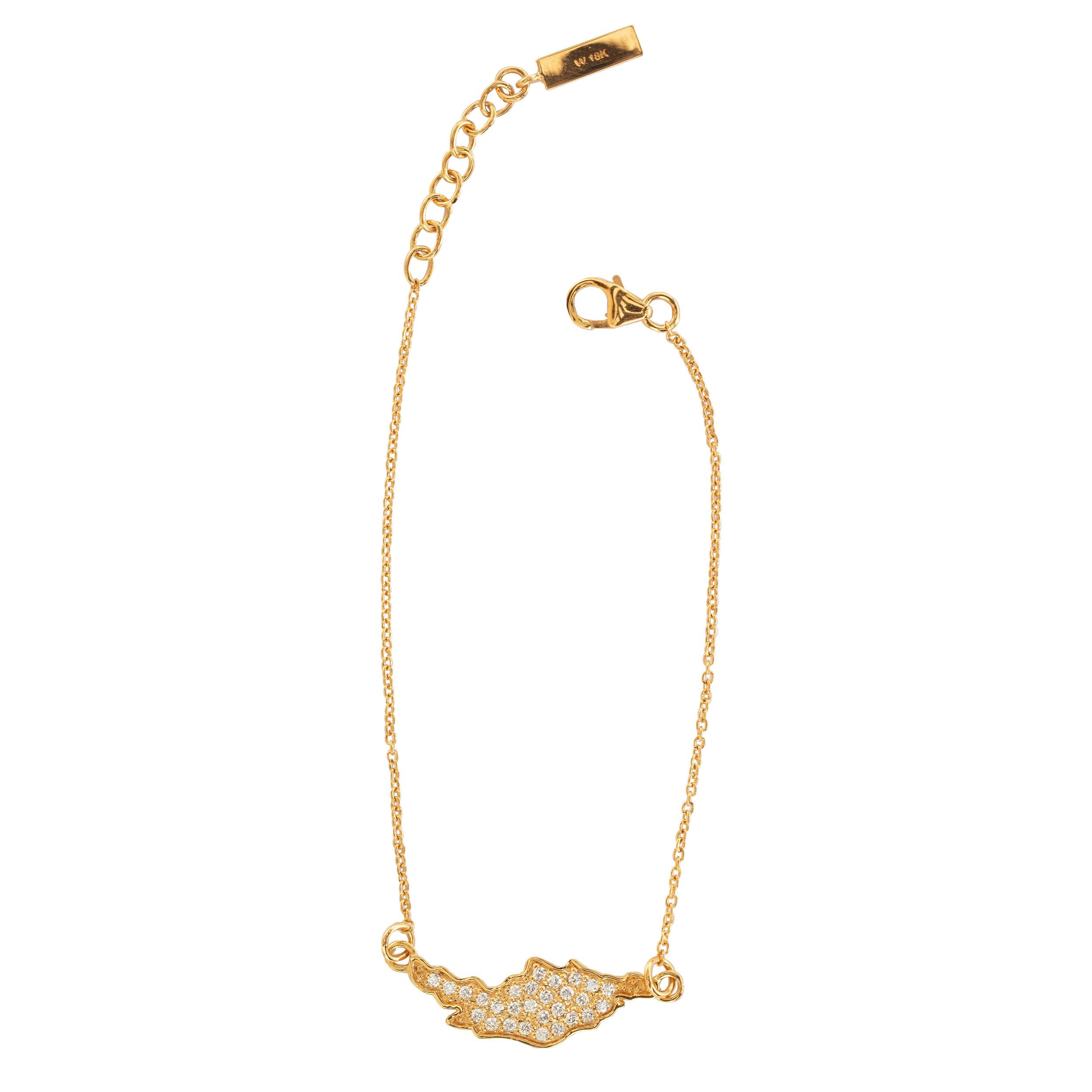 ''ÖJN'' BRACELET GOLD DIAMONDS