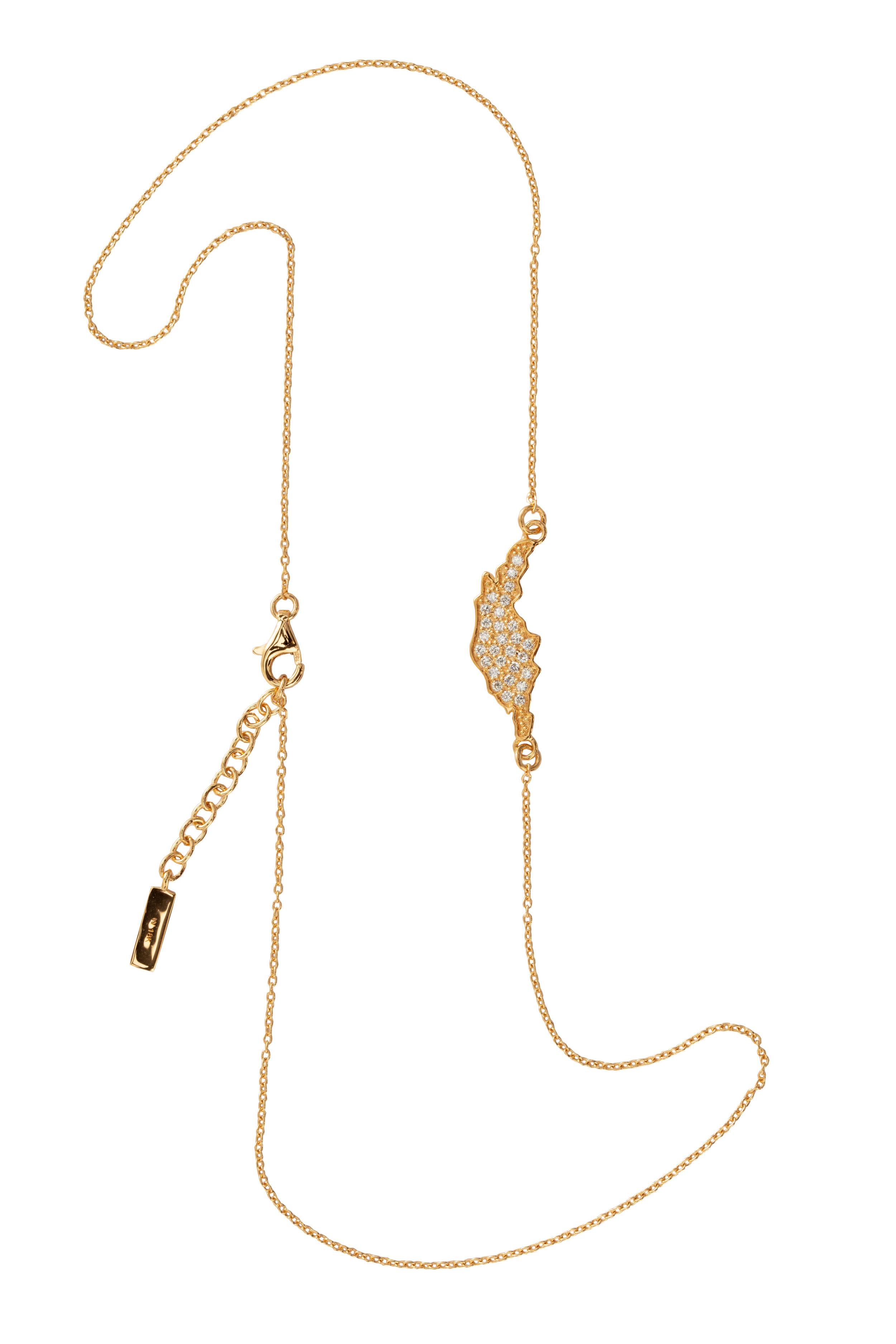 ''ÖJN'' NECKLACE GOLD DIAMONDS