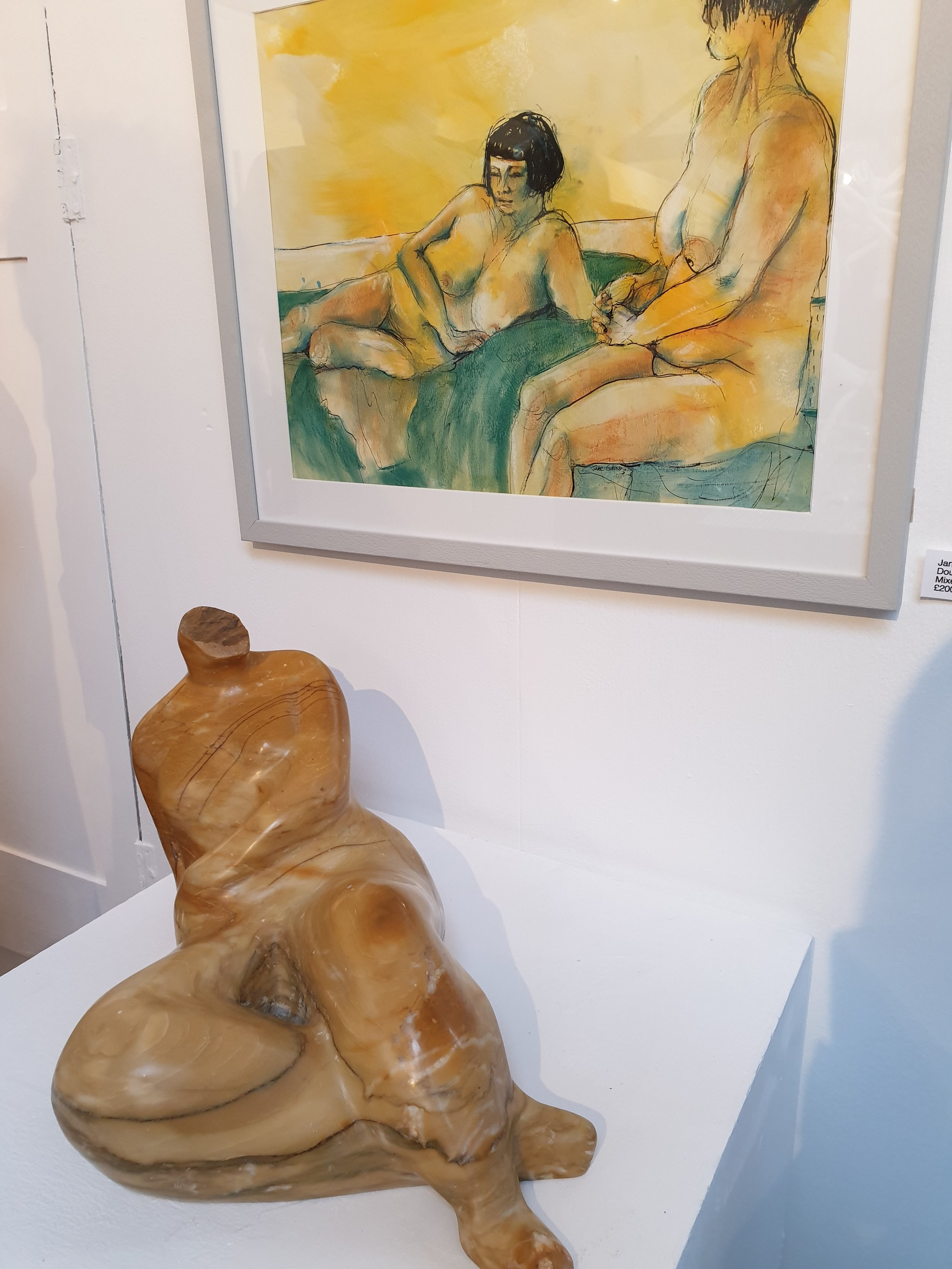 Jane Collins (Painting) and Rose Eva (Sculpture)
