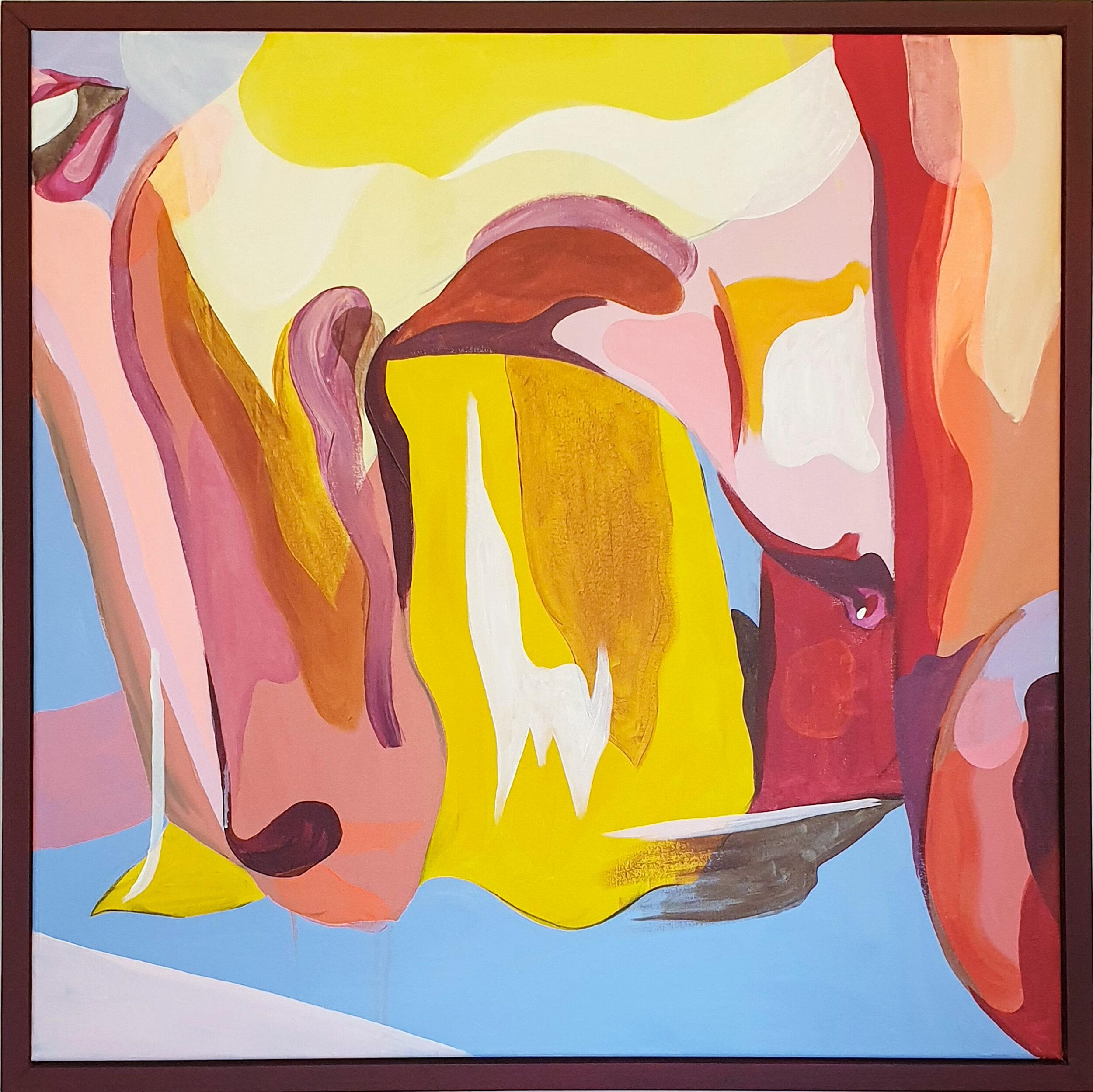 Look Back, Acylic on Canvas, 81.5 x 81.5cm Framed (76 x 76cm Unframed).jpg