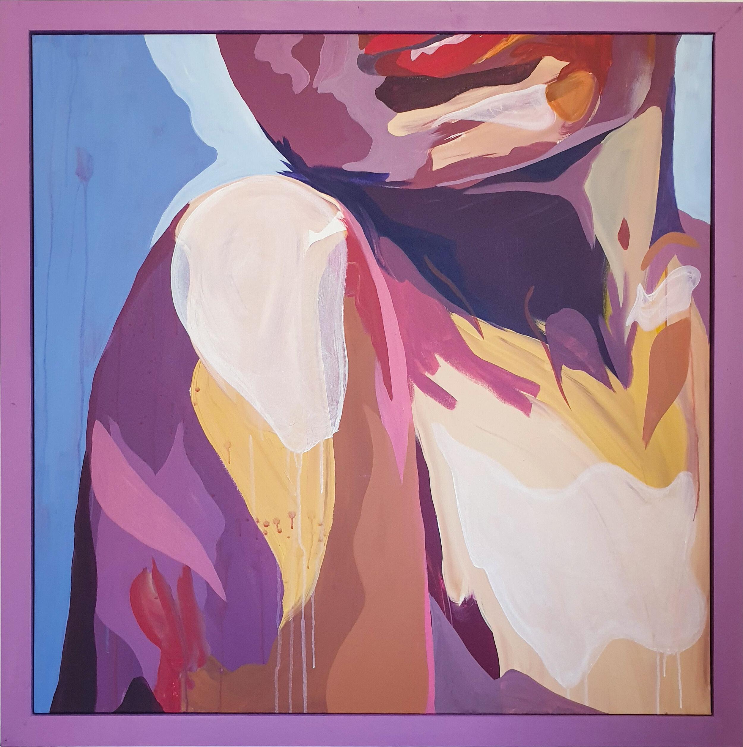 Skin, Acrylic on Canvas, 108 x 108cm Framed (100 x 100cm Unframed).jpg