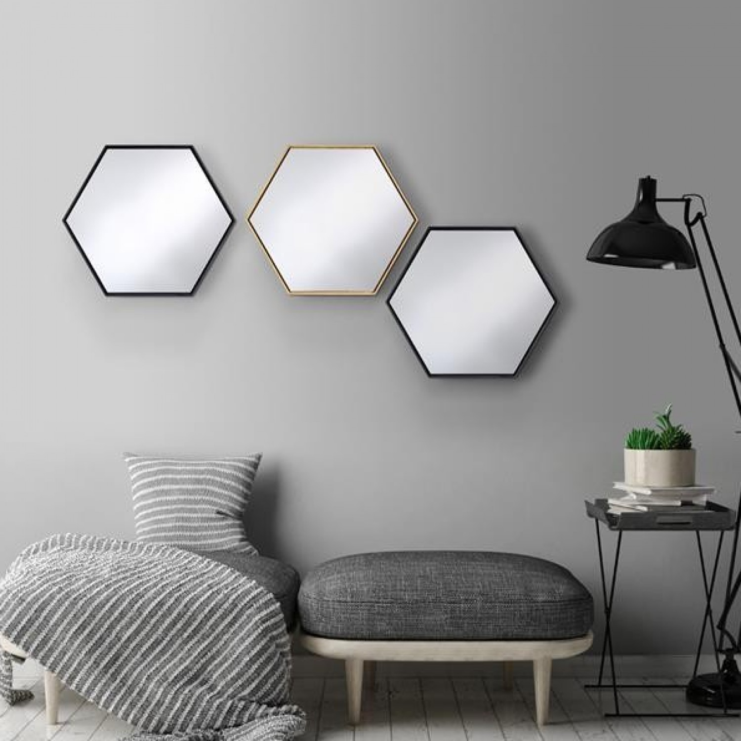 Mirrors - Use mirrors to bounce light around your room. One clever way to do this is place a mirror adjacent to a window in order to bounce natural light around the room. This won't only bring more natural light to the room but can also make the room feel bigger. The bigger the better.