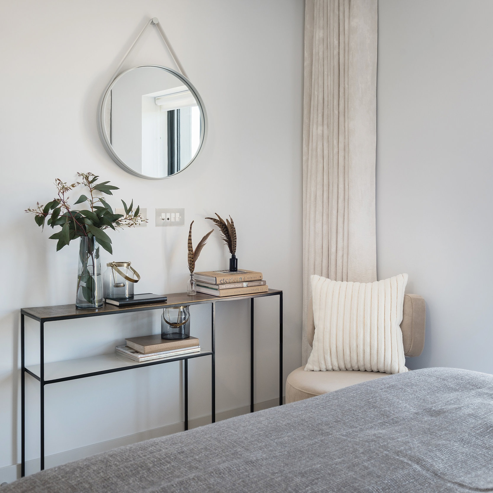 White Walls - Opt for them white walls. It may seem obvious but using light and neutral coloured paint really does help when trying to brighten up a dark room, not so obvious may be the choice to us Matte paint rather than glossy paint. Glossy paint will often create glare instead of reflecting light around your room, on the other hand Matte reflects light around the room, creating a brighter and warmer feel.