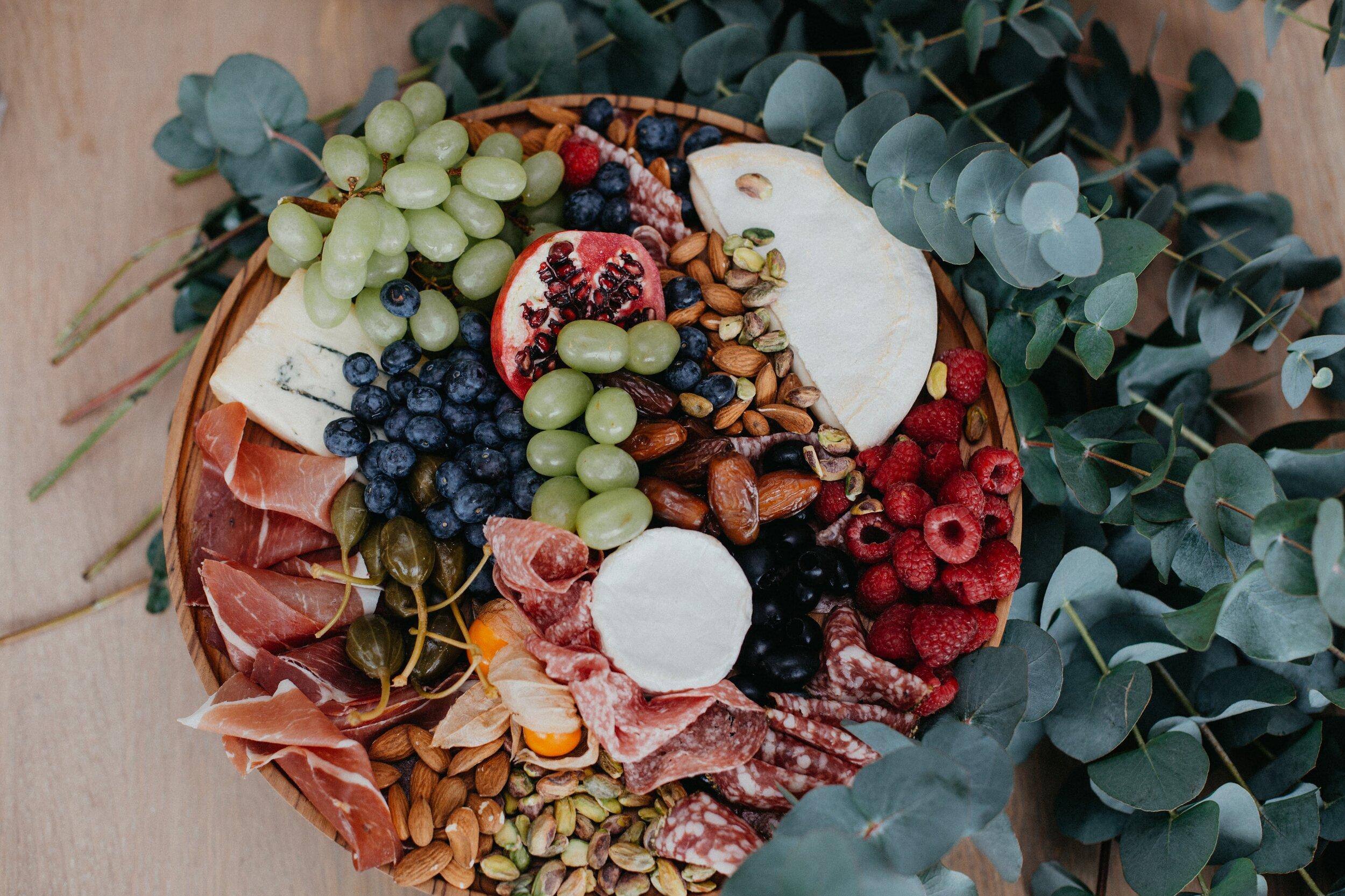 H&R food platter for 8 antipasti on teak board 3.jpg