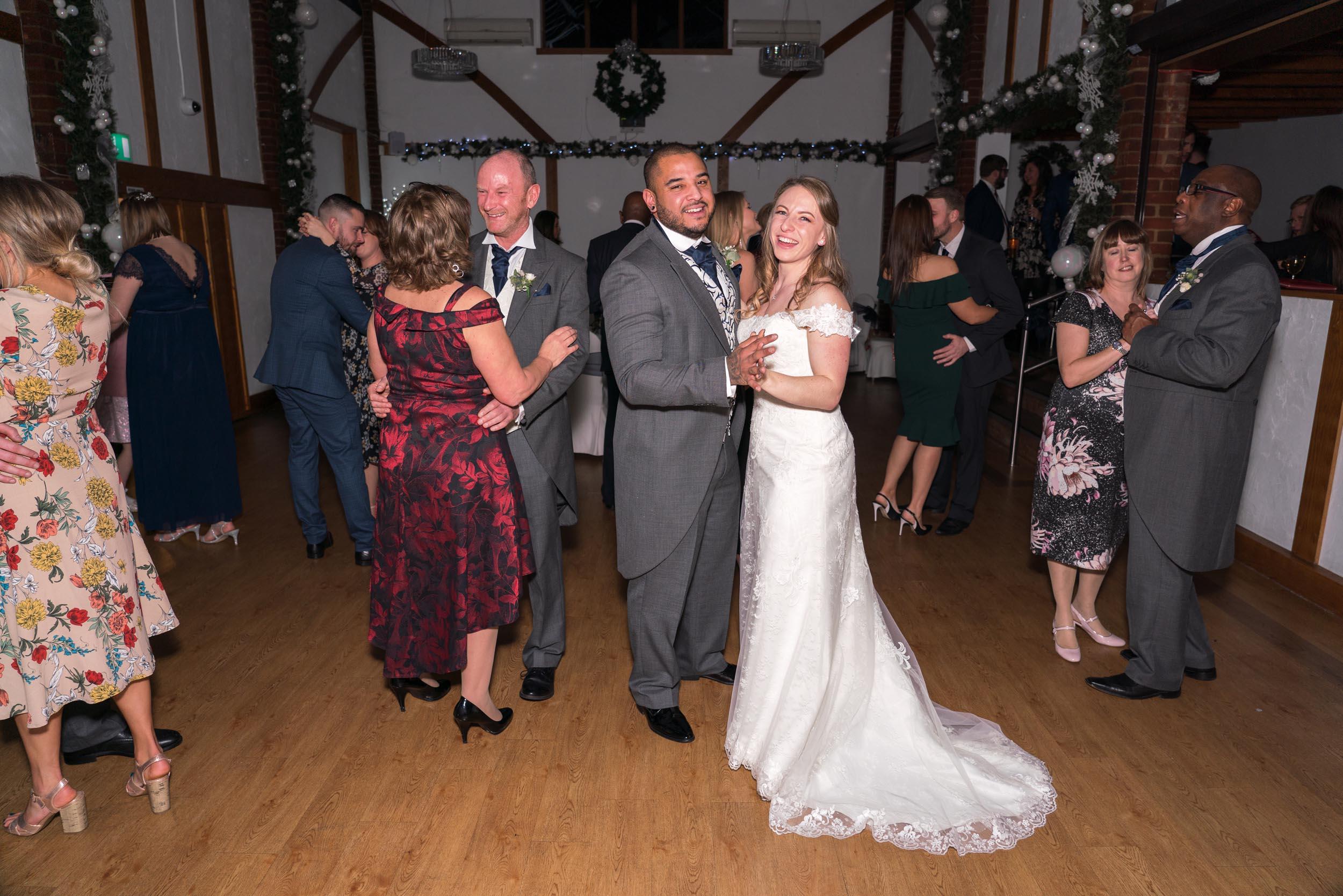 Ye Olde Plough House Cavalier Suite Dance Floor with Wedding Bride and Groom
