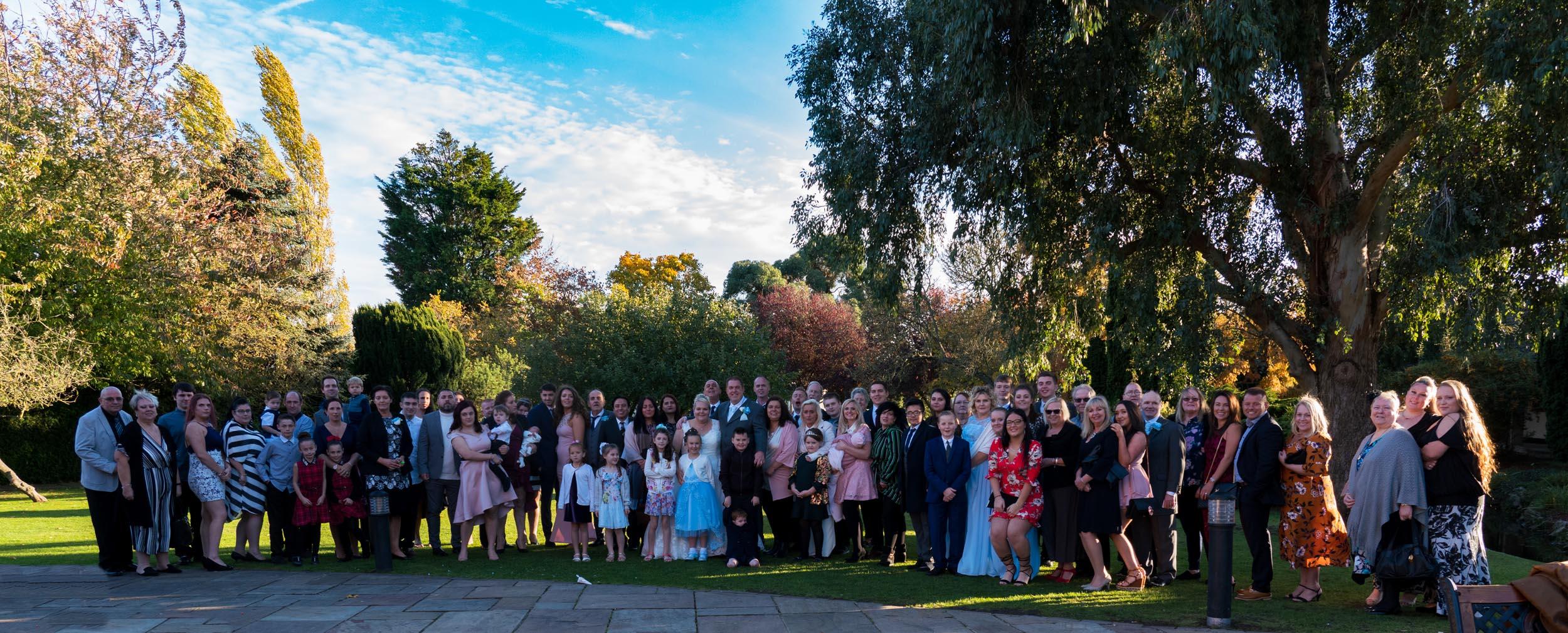 Ye Olde Plough House group wedding shot