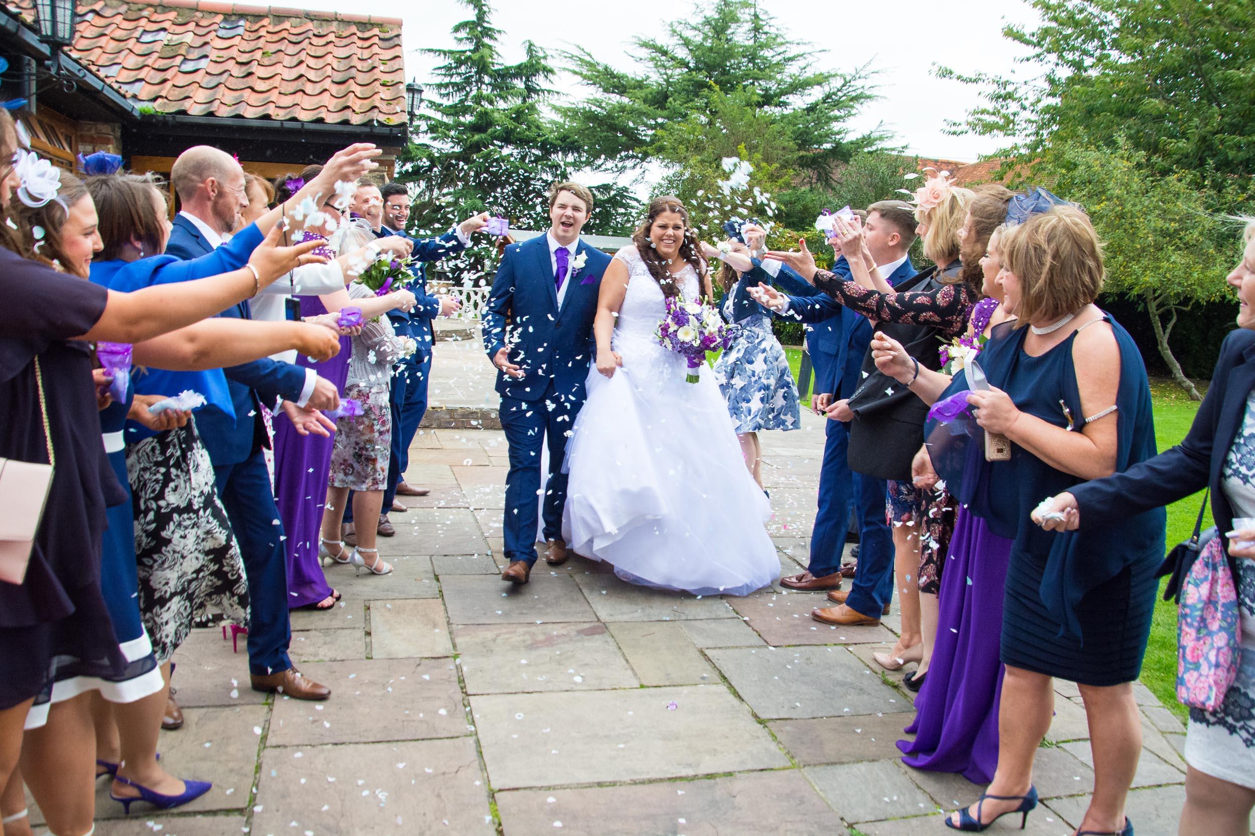 Ye Olde Plough House wedding confetti shot