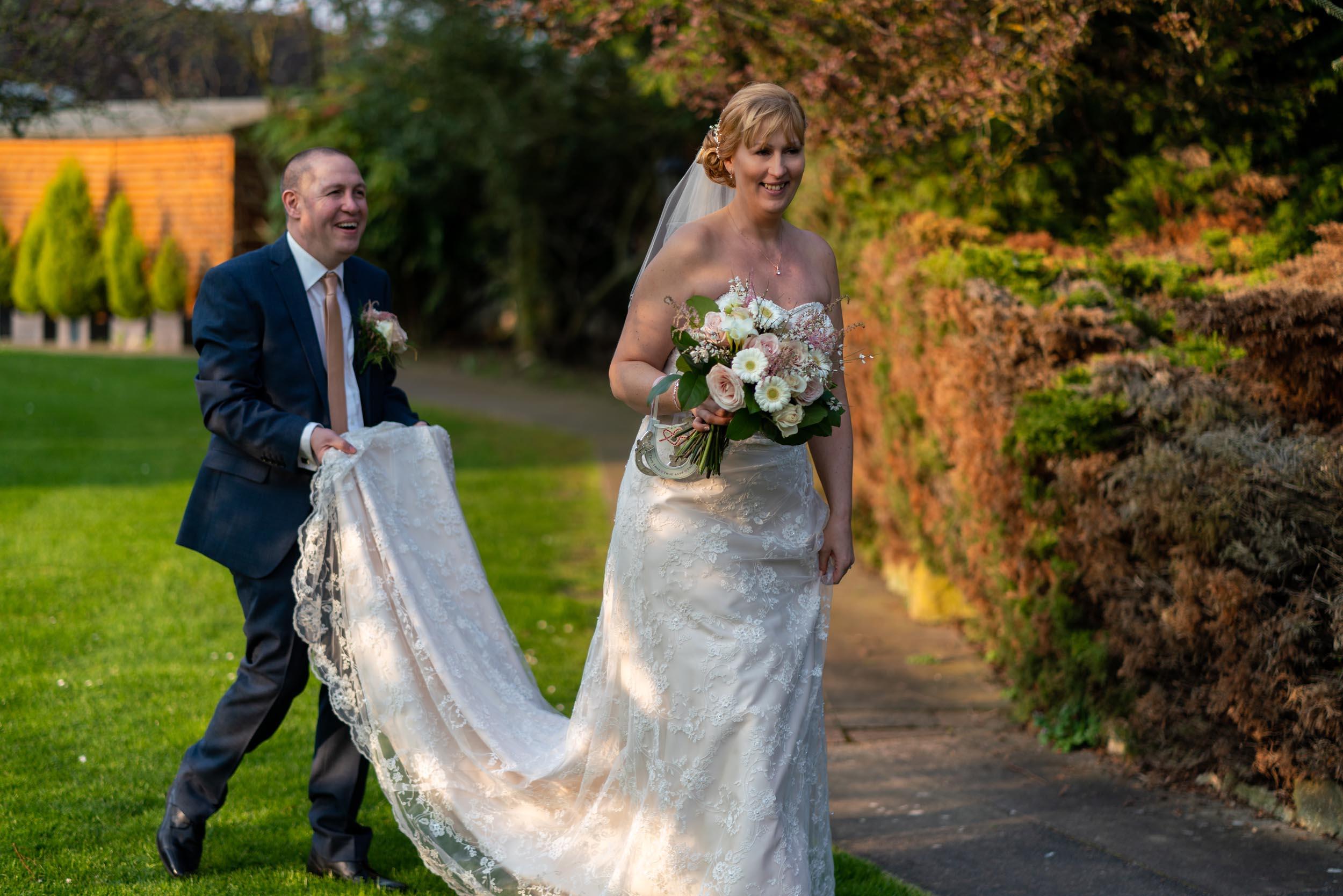 Ye Olde Plough House Bride and Groom