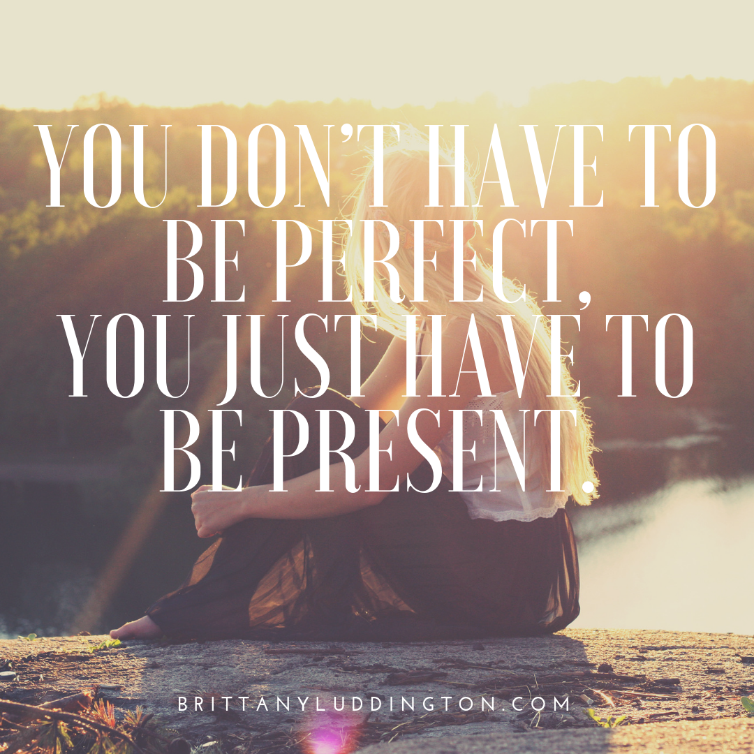 You don't have to be perfect, 
