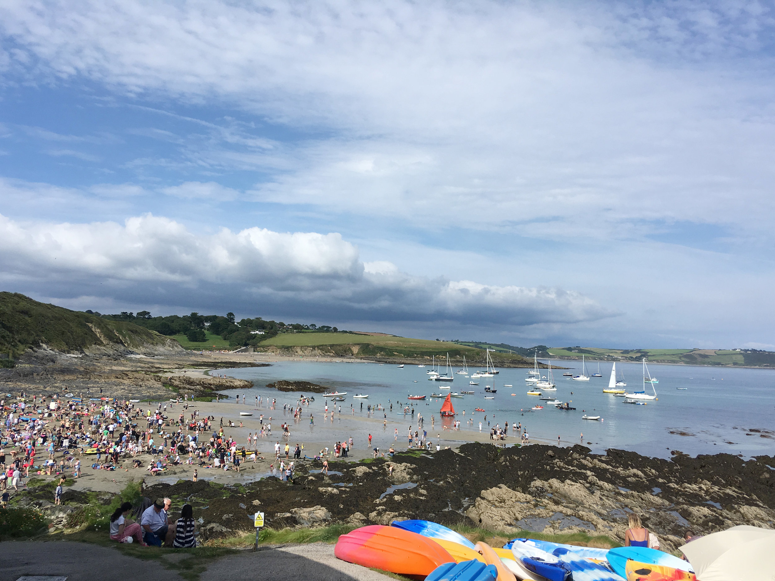 Regatta celebrations on the beach at Portscatho