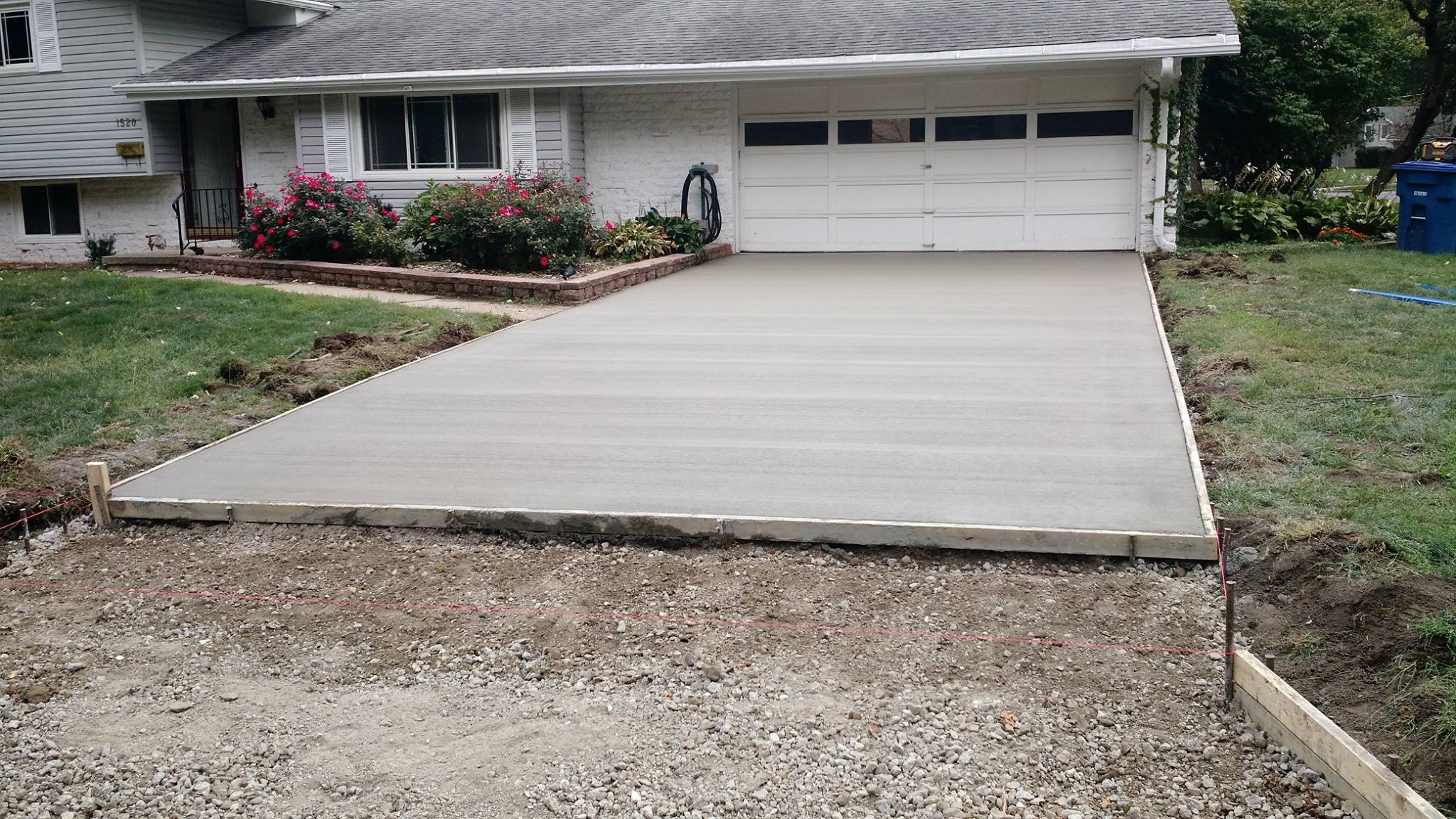 3. Let Cure & Enjoy - Our high quality concrete allows walking in 24 hours, and within 7 days you'll be driving on your new smooth entry to your home.