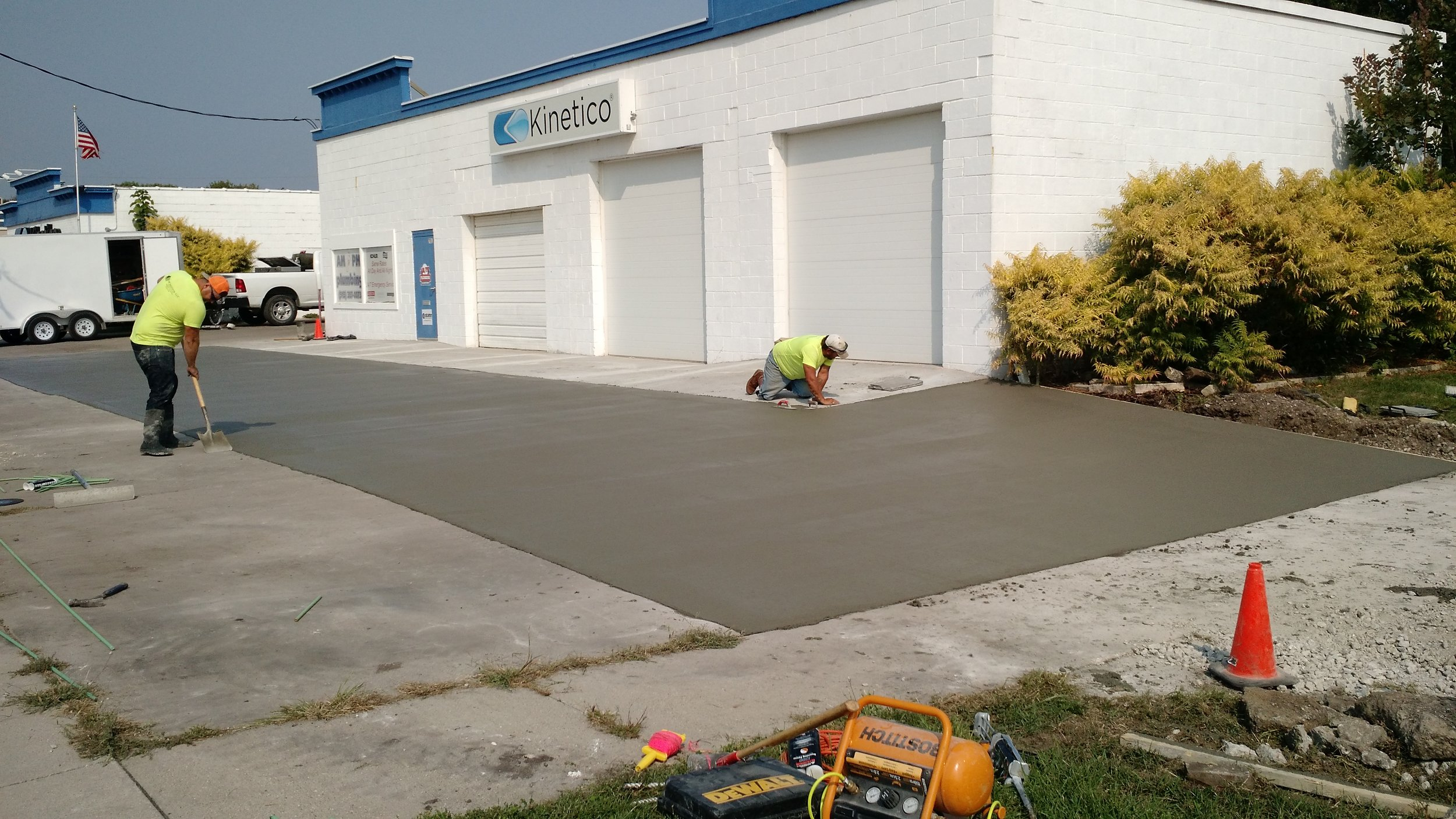 3. Let Cure & Relax - Our high quality concrete allows cures in about 4 days, so your customers will be using your new smooth entry quicker.