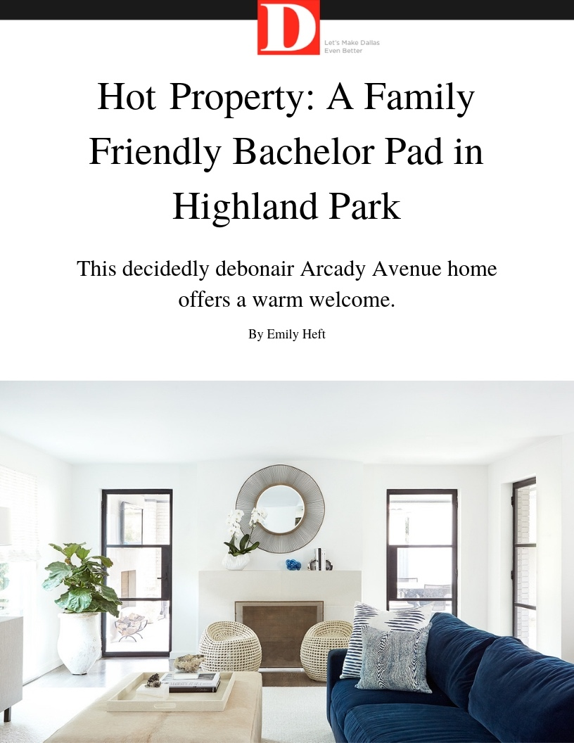Dallas Interior Designer Highland Park