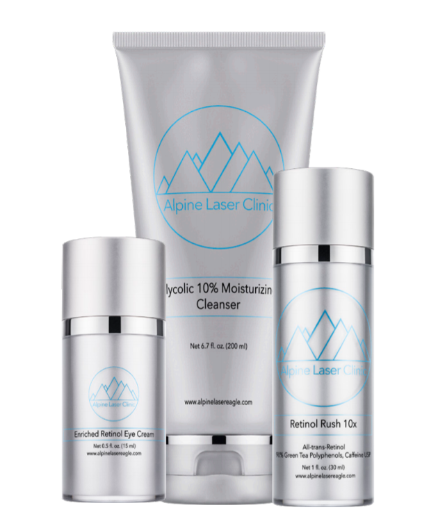 - Custom Skincare available exclusively from Alpine Laser Clinic