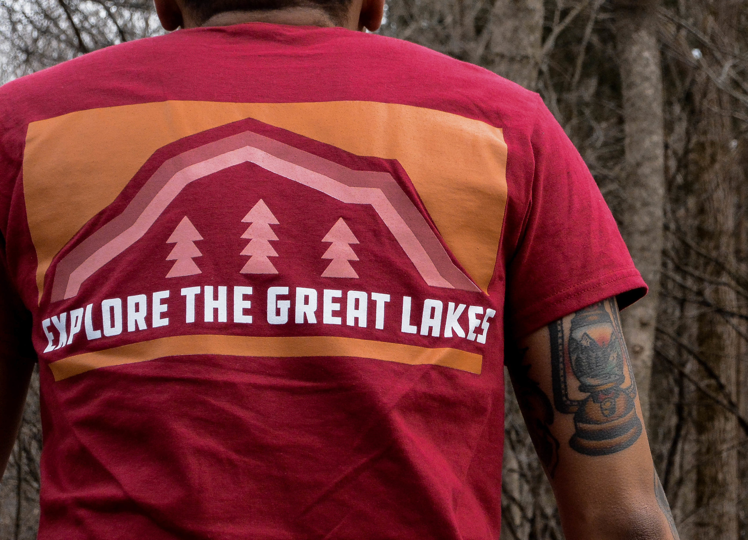 our first shirts are here - In the spirit of our favorite pastime, our new Explore the Great Lakes shirt pays homage to that. Designed to be bold, just like Michigan's rolling dunes, clear lakes, and immense forests in mind.$15.00