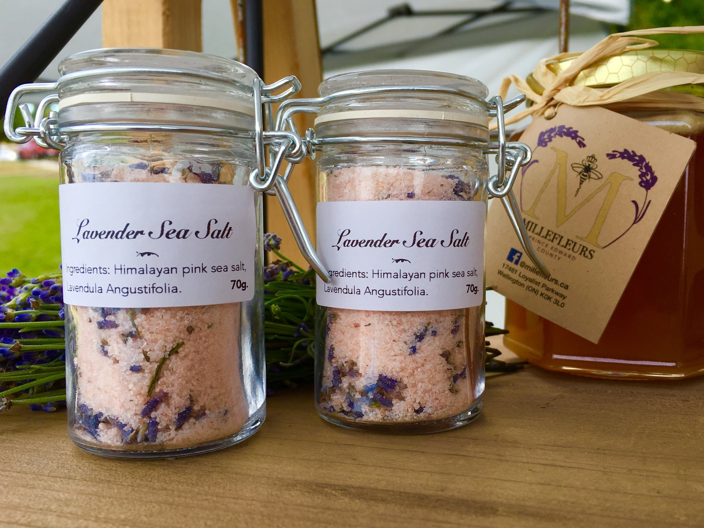 Lavender Sea Salt - Pink Himalayan seasoning salt infused with English Lavender buds.