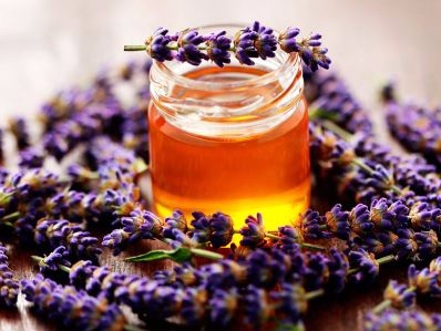 Lavender Honey - We infuse our raw honey with lavender flowers freshly-harvested from our lavender fields. This makes a delicately fragrant honey that retains the floral bouquet of summer wildflowers with a distinctly subtle lavender aroma on the palate. Delicious with tea or buttered croissants and scones..