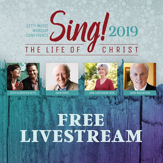 Our friends at Getty Music present... Getty Music Worship Conference: Sing! the Life of Christ  If you enjoyed the SING Conference and Concert in Belfast back in June, then you really don't want to miss out on this opportunity.  Jonathanhas headed over to the USA to be a part of this great event where thousands of pastors, leaders andmusicianswill come together fromtoday through to Wednesdayforthe Getty Music Worship Conference: Sing! the Life of Christ.  YOU can joinon the FREE live simulcastof this event for three days of deep theology, timeless artistry & vibrant congregational worship andexperience how Gospel-centered worship will transform your life, your family and your church!  RSVP TODAY ATHTTP://LIVE.GETTYMUSIC.COM