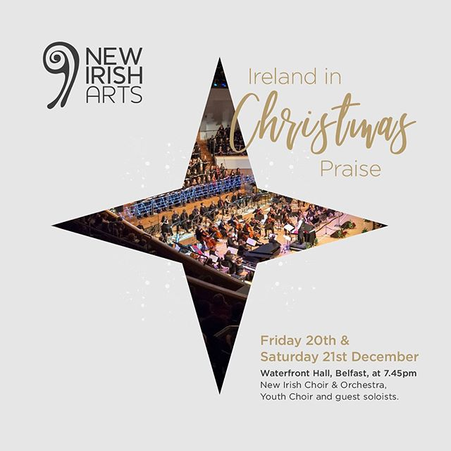 Join the New Irish Choir and Orchestra and the New Irish Youth Choir for a beautiful and vibrant celebration of Christmas. This is now one of Belfast's largest and most eclectic Christmas events, with over 200 people on stage and an opportunity for the audience to join in singing traditional Christmas Carols. Directed by Jonathan Rea.  Tickets from www.waterfront.co.uk or call 028 9033 4455