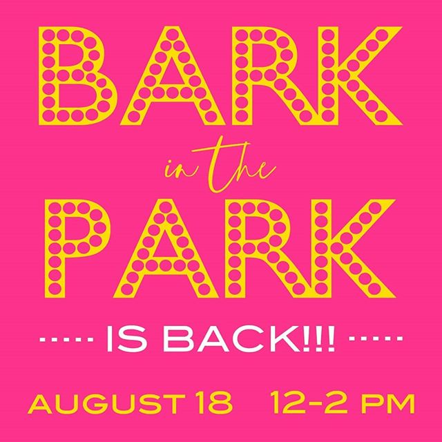 You've asked and we've said YES, YES, YES!🐕 Bark in the Park returns this Sunday from 12:00-2:00pm! Get your limited availability tix today before they're  gone!❤