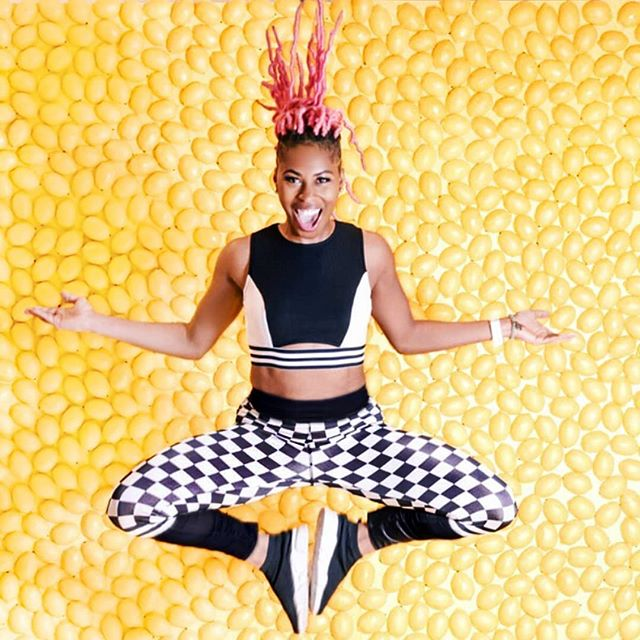 This image is EVERYTHING!!!! One of our studio favs of the summer! Last 2 days to capture crave worthy Insta shots like this one!  PS. Want crazy cool tights like these? Check out @tightsbyvc to get yours! Link in bio for TIX!💥💥💥