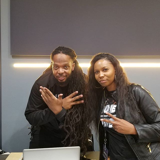 With @gnettpge mixing engineer for @nipseyhussle #nipseyhussle #1500academy #femaleengineer #audioengineer @1500soundacademy @rance1500
