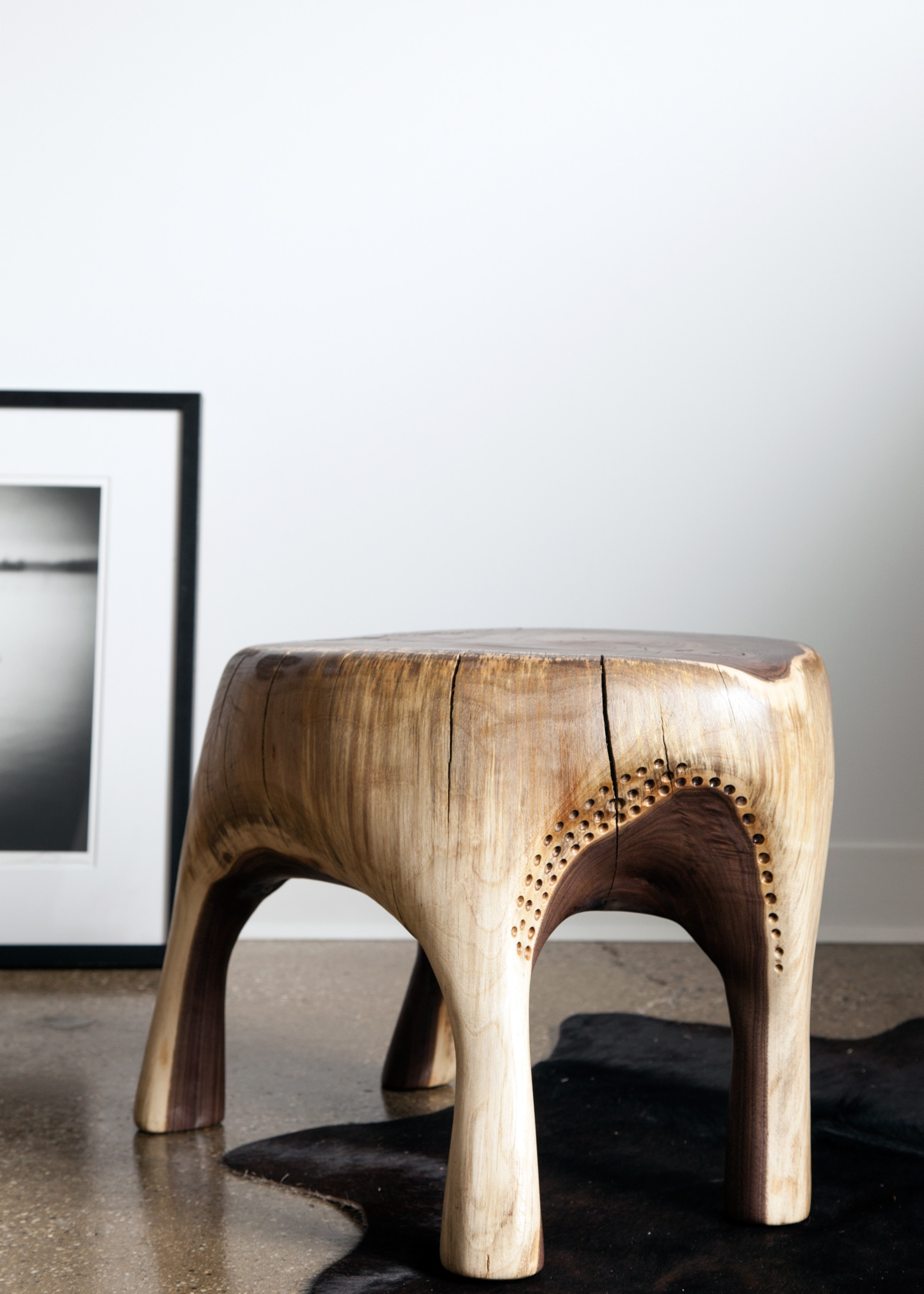 young walnut stool