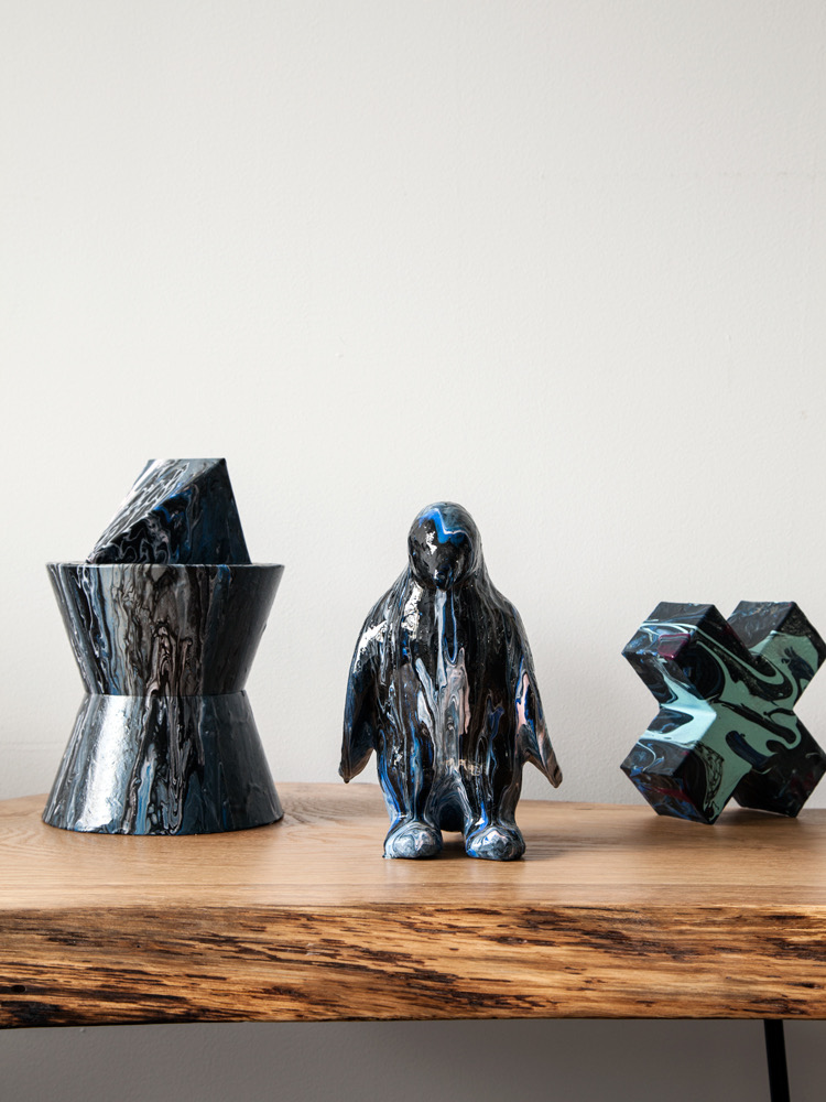 Mixed Resin Sculptures
