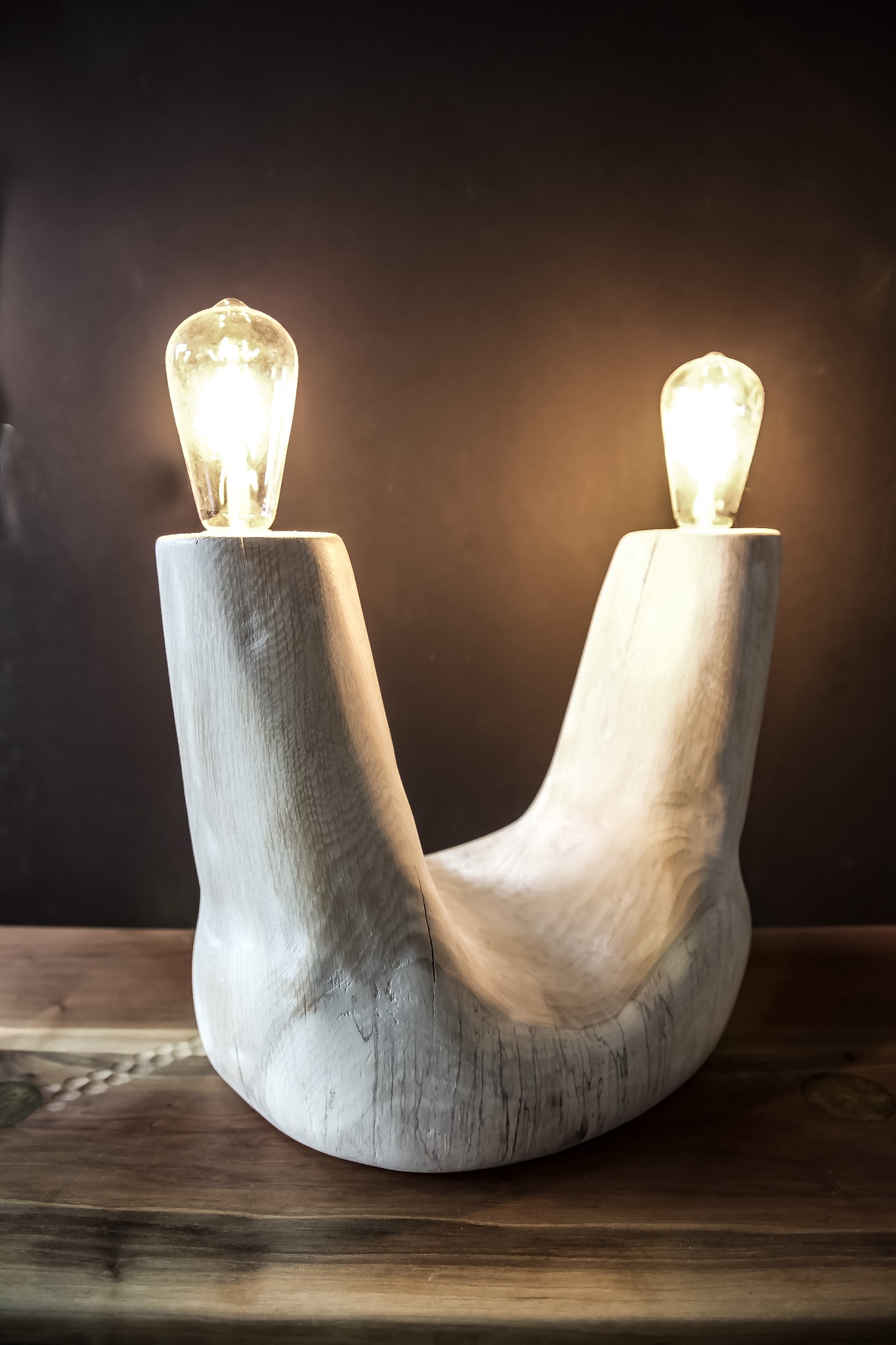 Bleached Oak Lamp