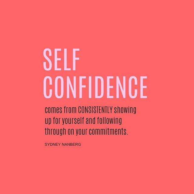 💭 tag 4 friends who NEED to see this 👇🏼👯‍♀️ . 🚨confidence comes from consistently following through on commitments to ourselves. showing up for YOU is crucial to personal development + confidence. when we commit to something and lack to follow through, we lose trust in ourselves. we may not realize it, but that leads to us beginning to doubt our greatness, and BOOM! hello lack of self confidence. . i started gaining confidence when i went away to college. i was on my own & had to do things for myself. for the first time, i was really relying on ME. . when i first arrived at school, i wasn't so confident. i made amazing friends, but felt so out of place b/c i knew that school wasn't my path. that left me feeling really confused + not so confident in myself. . i was dealing with a lot of anxiety & was sick of feeling lost. i started investing in ME. i started committing to ME. i started putting structure into my life. . 🙏🏼morning routines, journaling, practicing gratitude & creating check lists of tasks that i needed to accomplish each day. i would write down weekly goals & tackle them. i formed better habits. when i showed up for ME + followed through on commitments to myself, i gained more self confidence. i began to believe in ME. i began to believe in my capabilities. i felt good, so i did good.