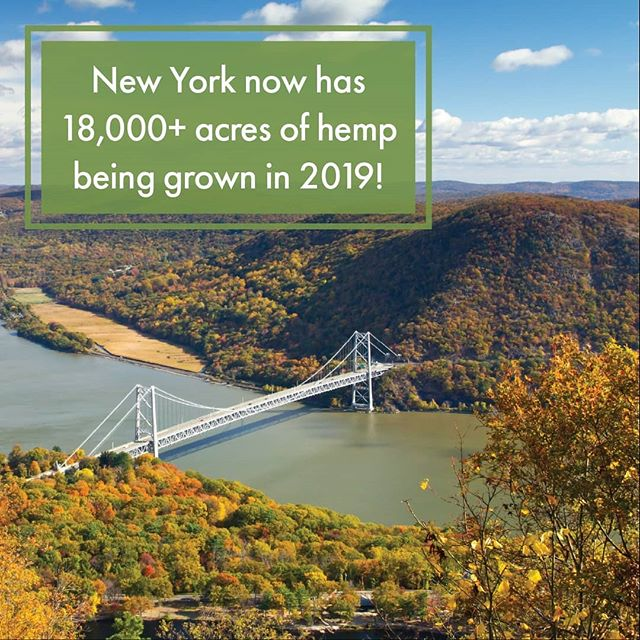 A lot of that acreage is in Central and Western NY! #HempItUp