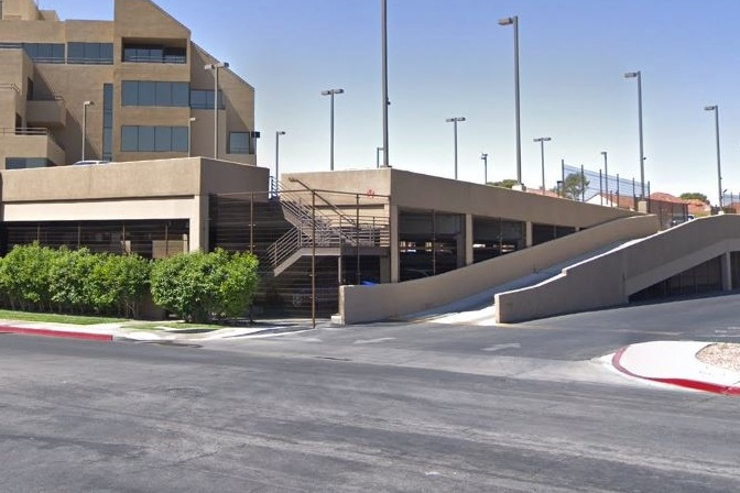 2700 WEST SAHARA PARKING STRUCTURE - Las Vegas, NVTwo story concrete structure with precast columns and beams and cast-in-place, post-tensioned slabs for 200 cars.