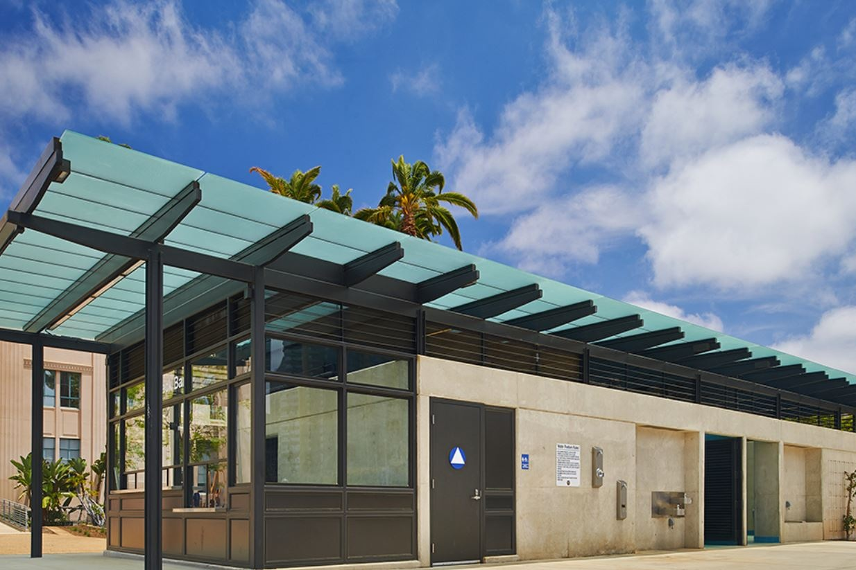 WATERFRONT PARK RESTROOMS - San Diego, CAStructural steel and CMU structure for a 89,000 square foot public park at the San Diego Harbor. over single story subterranean parking structure.Contractor: McCARTHY BUILDINGArchitect: SGPA ARCHITECTURE