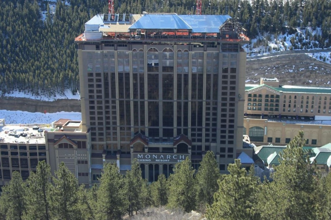 MONARCH CASINO RESORT - Twenty three story reinforced concrete building with concrete shear-walls and post-tensioned slabs supported on a deep pile foundations. Includes casino, restaurants office space and a luxurious pool/spa on the 23rd floor.Contractor: PCLArchitect: MBA ARCHITECTURE