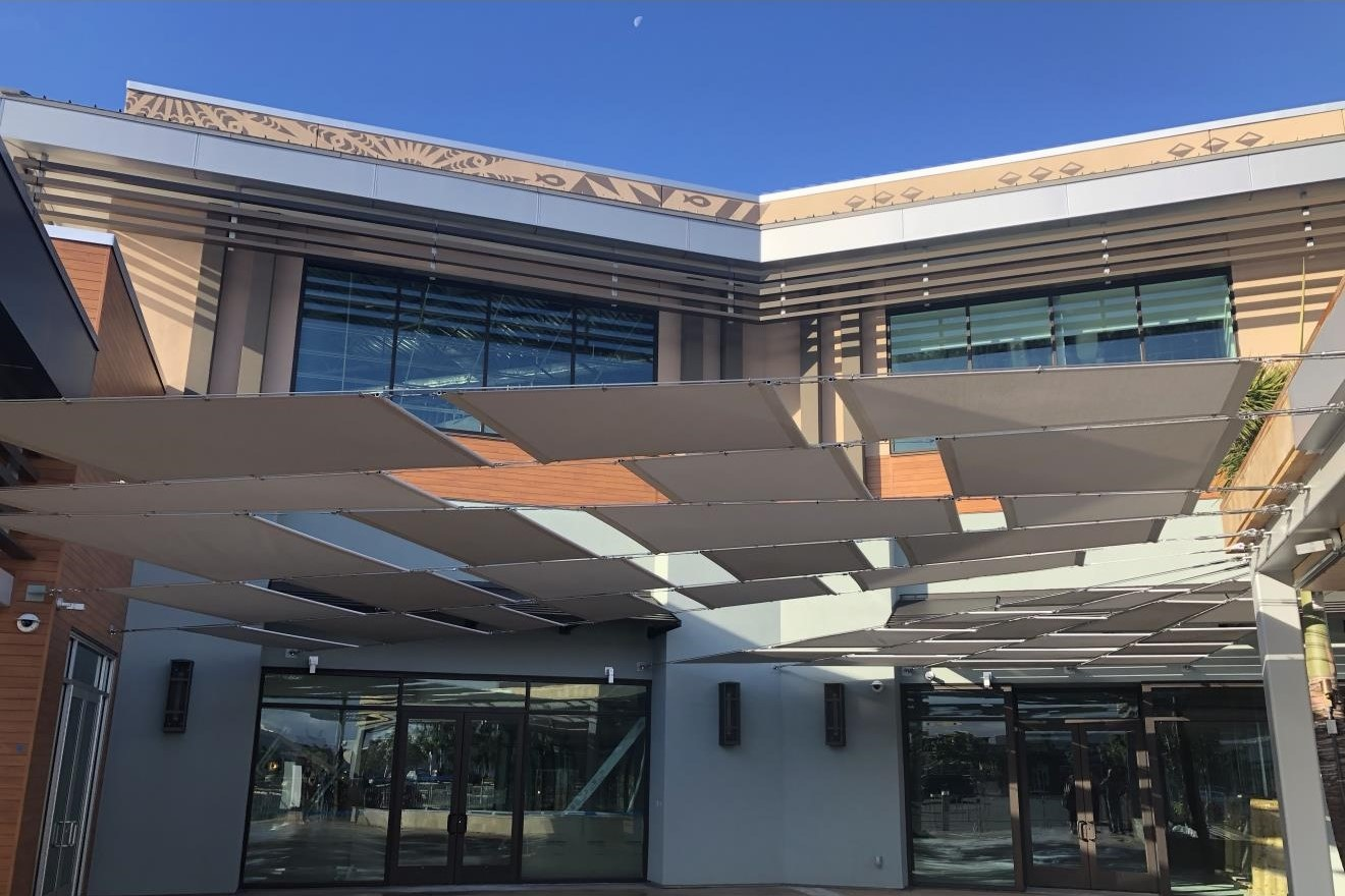 The grove at KA MAKANA ALI'I shopping center - Kapolei, HIShopping center addition totaling approximately 78,000 square feet of structural steel lowrise with steel moment frames.Contractor: PCLArchitect: ARCHITECTS HAWAII