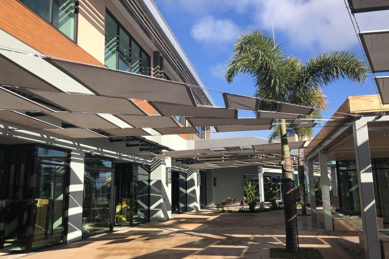 THE GROVE AT KA MAKANA ALI'I SHOPPING CENTER - Shopping center addition totaling approximately 78,000 square feet of structural steel lowrise with steel moment frames.Contractor: PCLArchitect: ARCHITECTS HAWAII