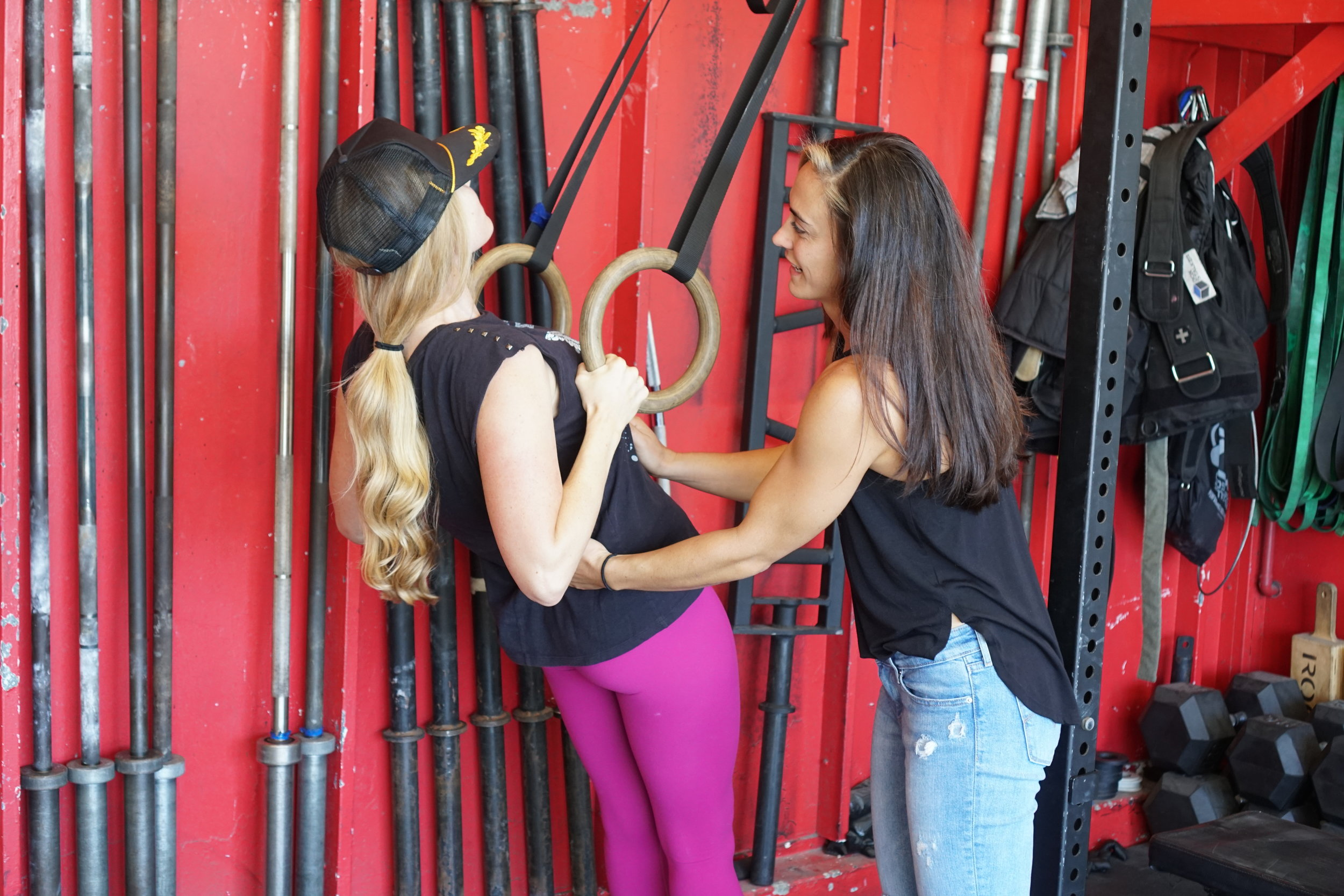 Lindsey helping Brittany.JPG