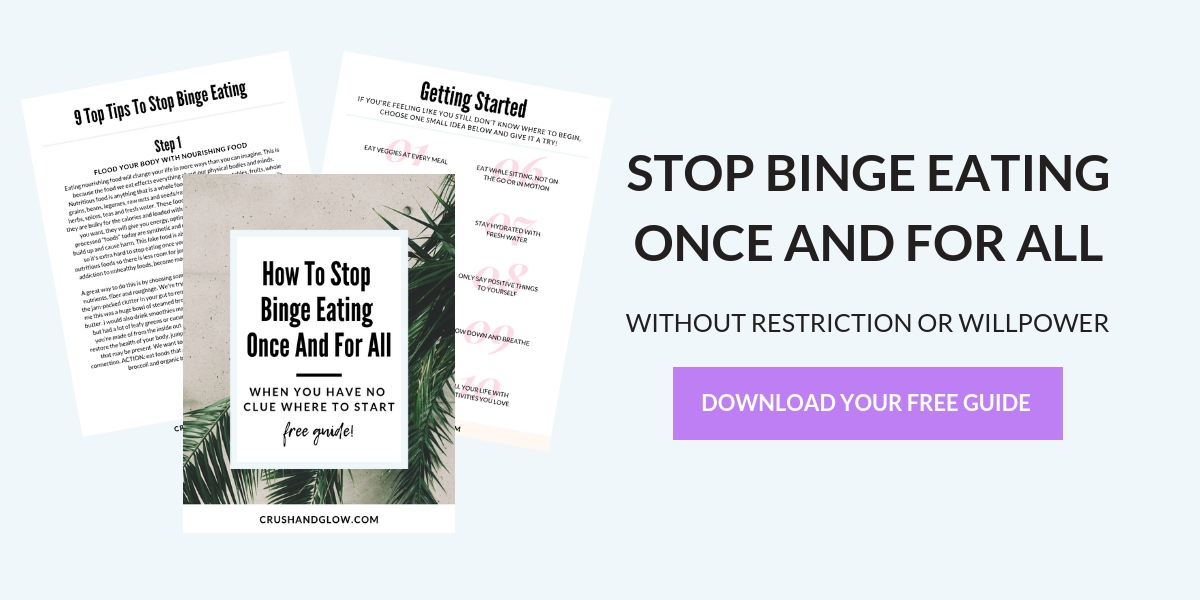 HOW TO STOP BINGE EATING roadmap