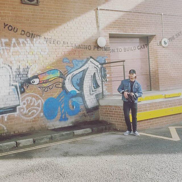 Found this cool #Banksy piece in Bristol... . . . . . . . . . . . . . #documentary #film #director #streetart #travel #explore #sony #fs5 #naturallight #epic #dowhatyoulove @groovykidsyoga @liftedfilmsmedia