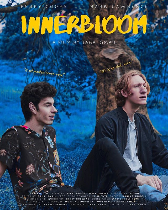 First look: INNERBLOOM - A psychedelic buddy film starring Perry Cooke & Mark Lawrence. -  Producer: @rafaelramirezfilms DOP: @hcolemanfilm ADs: @ieva.creative @joegotinsta 1st ACs: @joel.s.richardson_ @eliott_poyzer  2nd AC: @montgomeryjhs Creative Dir: @ilanlampl Production Designer: @ellieefaye Gaffer: @conrad_pr Sound Mixer: @hoxmartin OST: @hozho Promotional Photography: @mattdocs - - Currently in the edit. More soon.