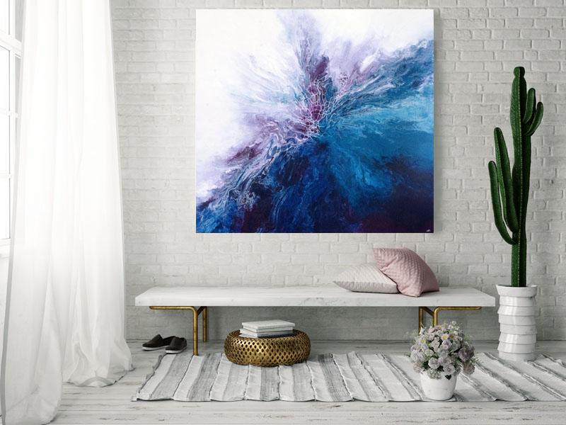 PERSEPHONE/ 2018/Fluid Acrylic and Atlantic Ocean Water / 48x48x1.25/ SOLD