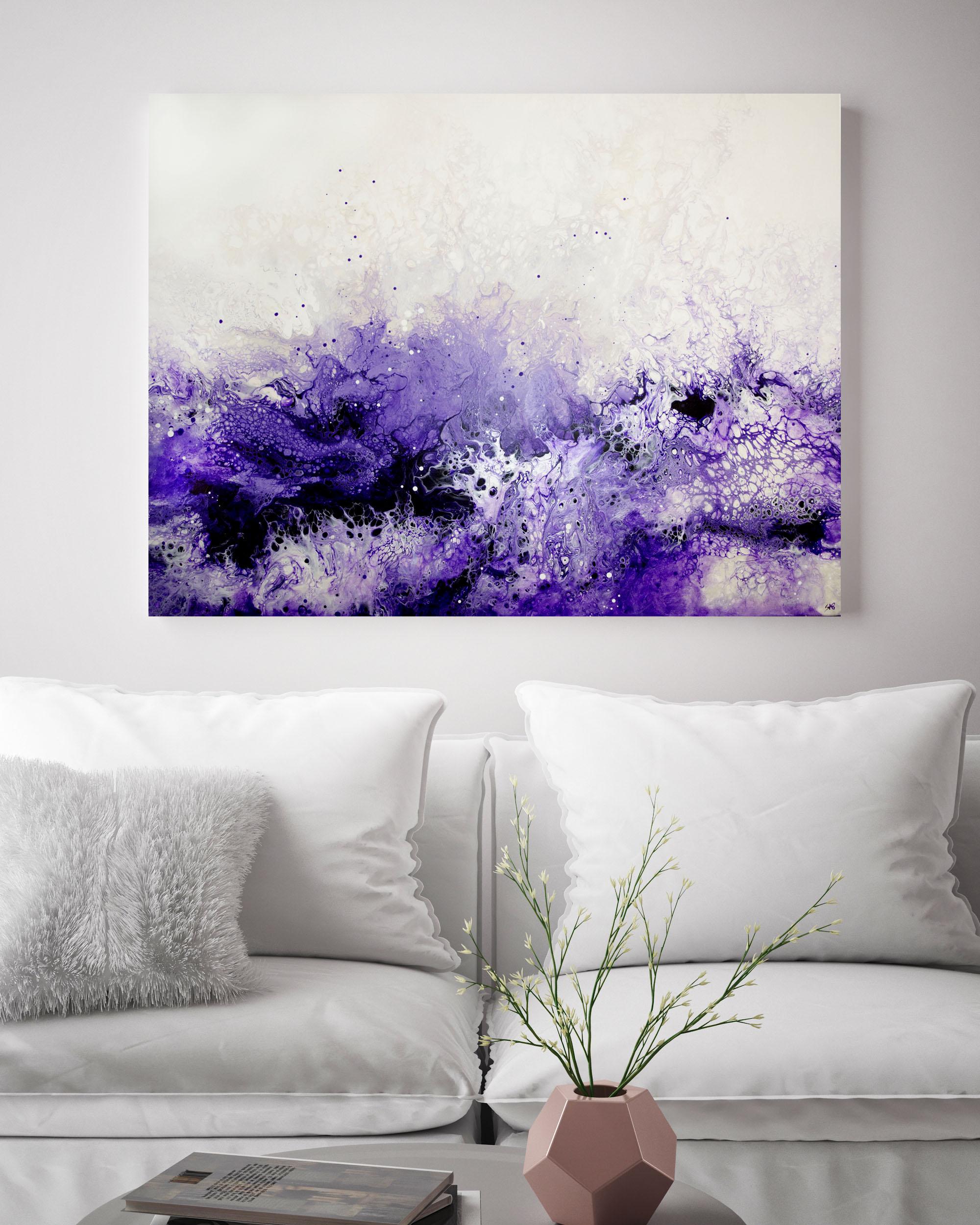 Lauma/ 2019/ 30x40x1.25/Fluid Acrylic and Atlantic Ocean Water on Canvas/ for sale/     CONTACT BoJu Art Gallery    /