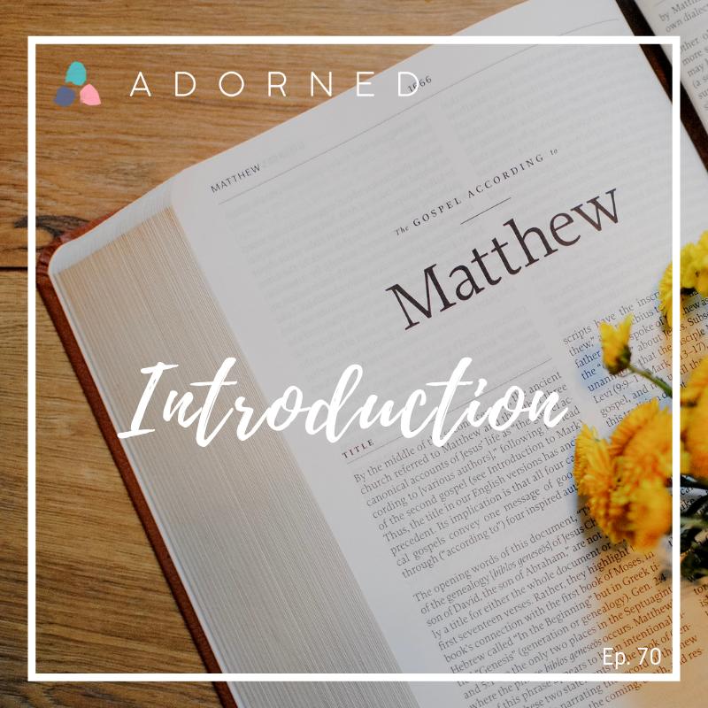 """Matthew gave us God's entire plan from Genesis to Revelation"" -Spurgeon Study Bible -"