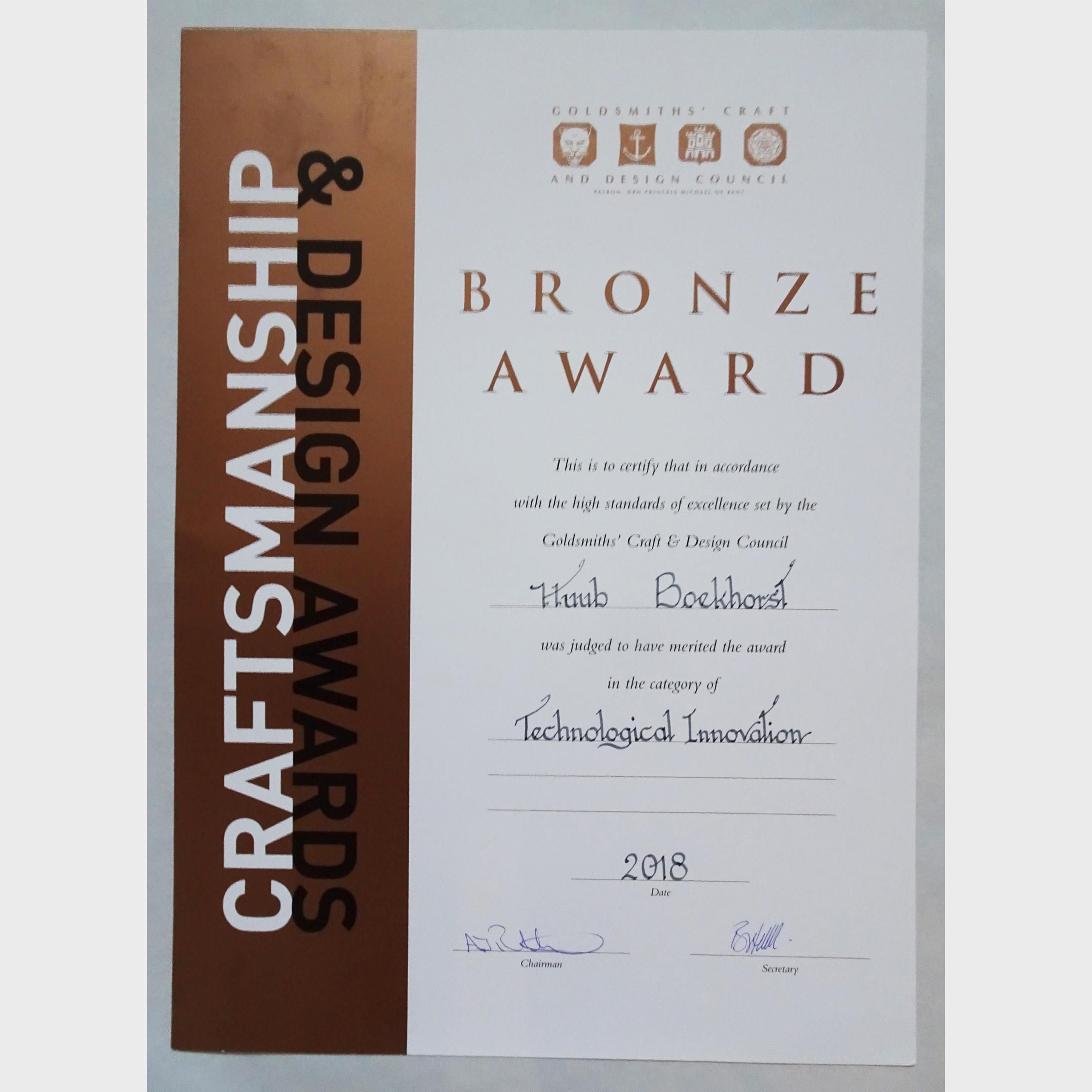 Goldsmiths' Craft & Design Council awards 2018