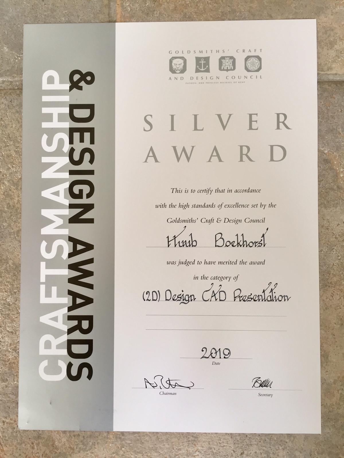 Goldsmith's Craft & Design Council awards 2019