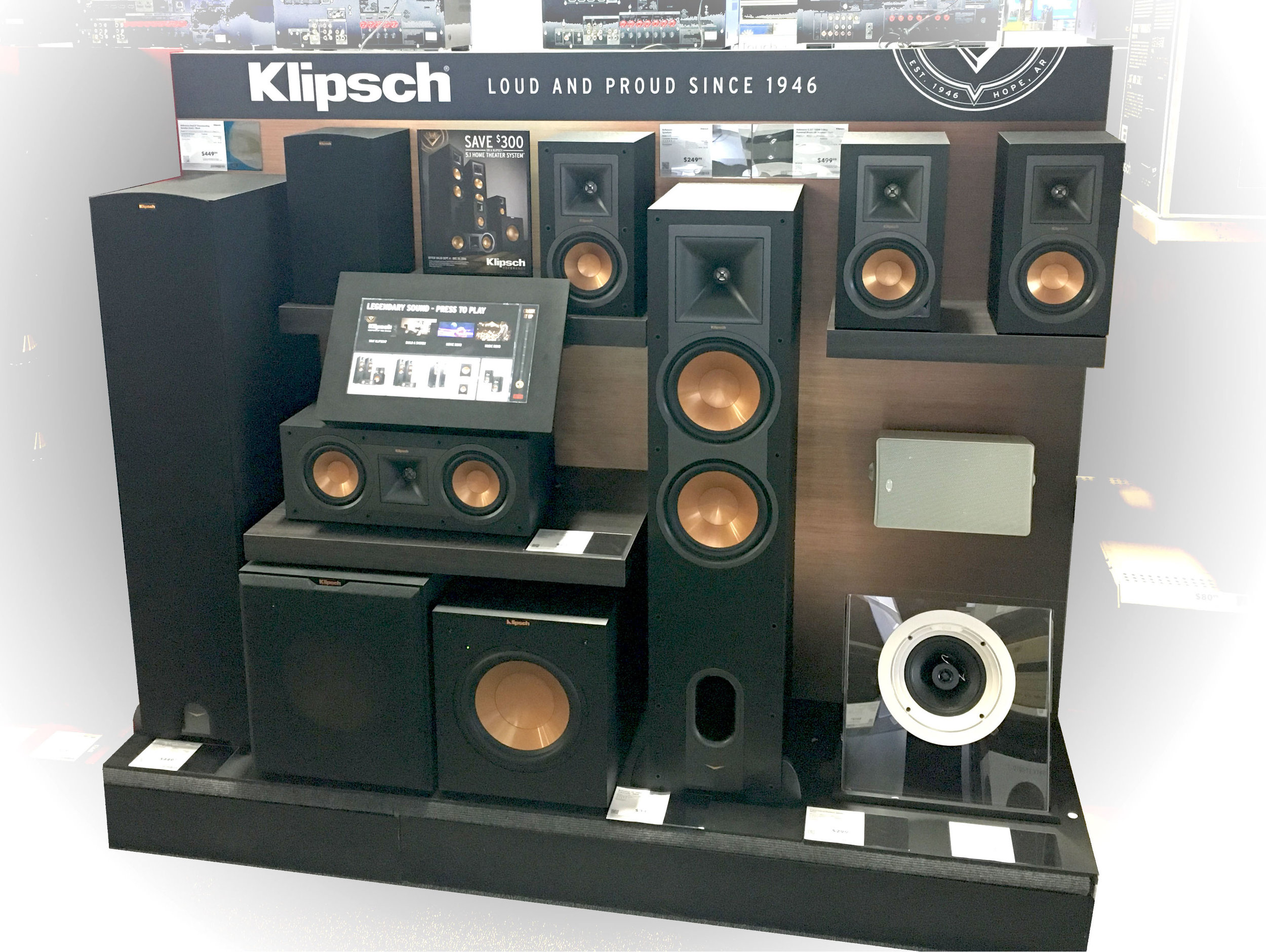 Klipsch  - Interactive Home Theater Demo (Endcap/Inline) -  Best Buy Rollout